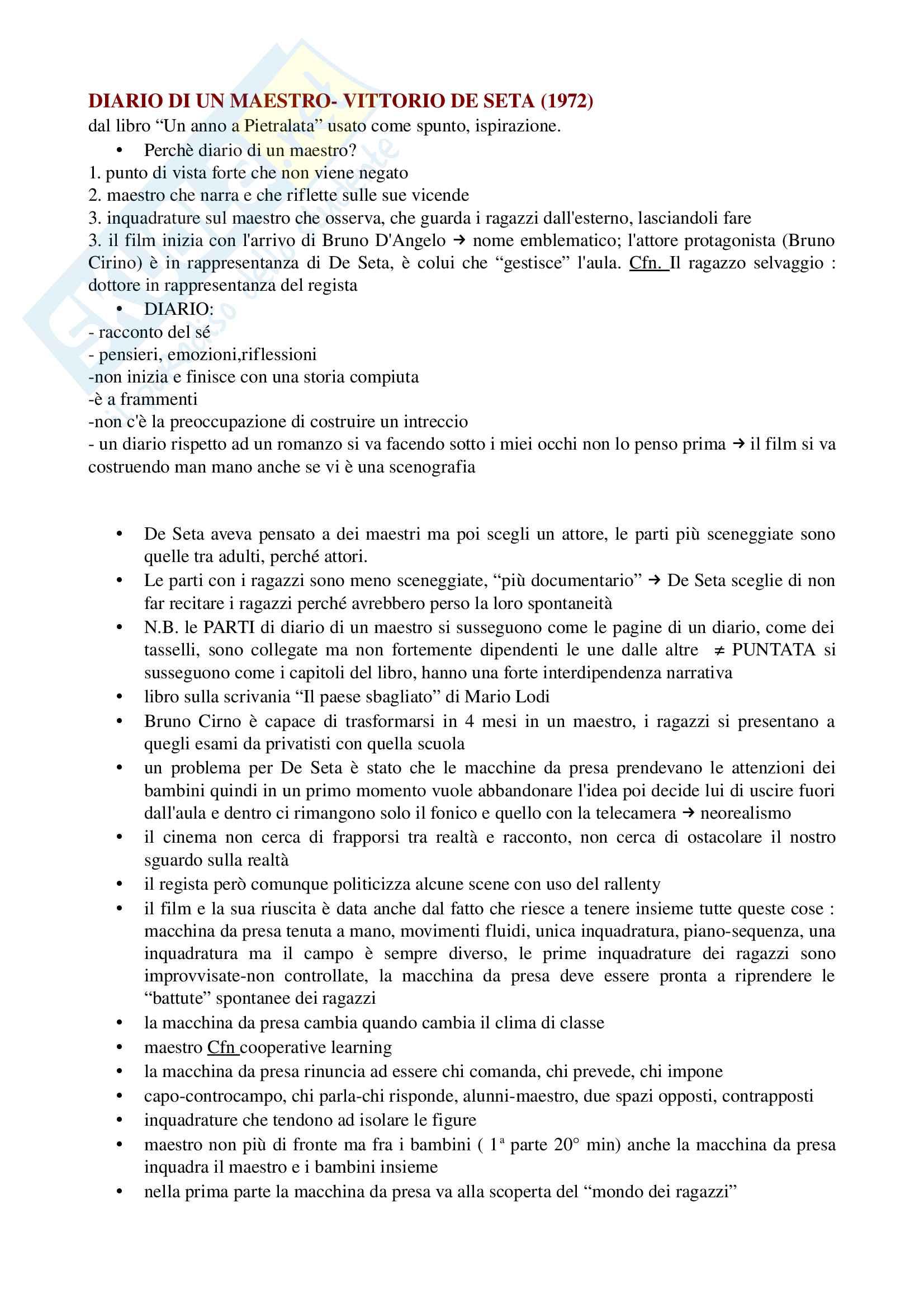 Diario di un maestro Vittorio De Seta