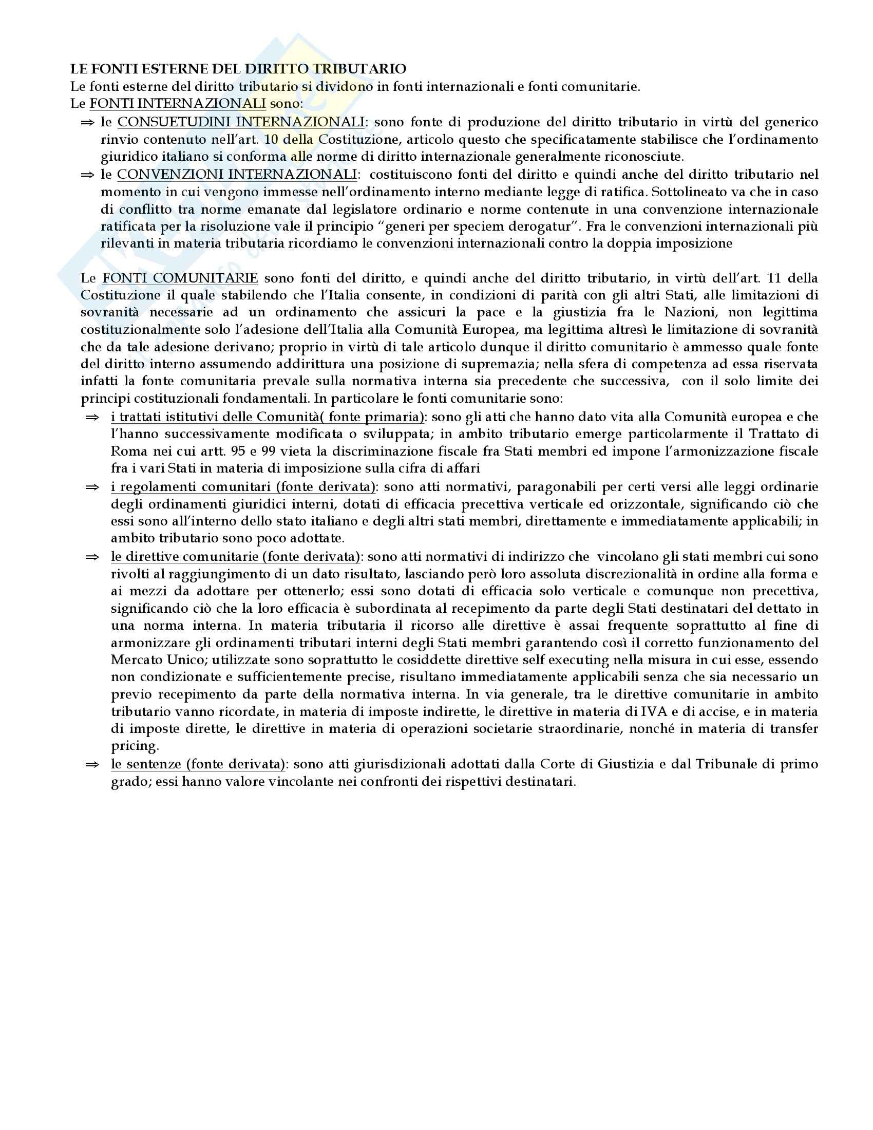 Diritto tributario - Appunti Pag. 11
