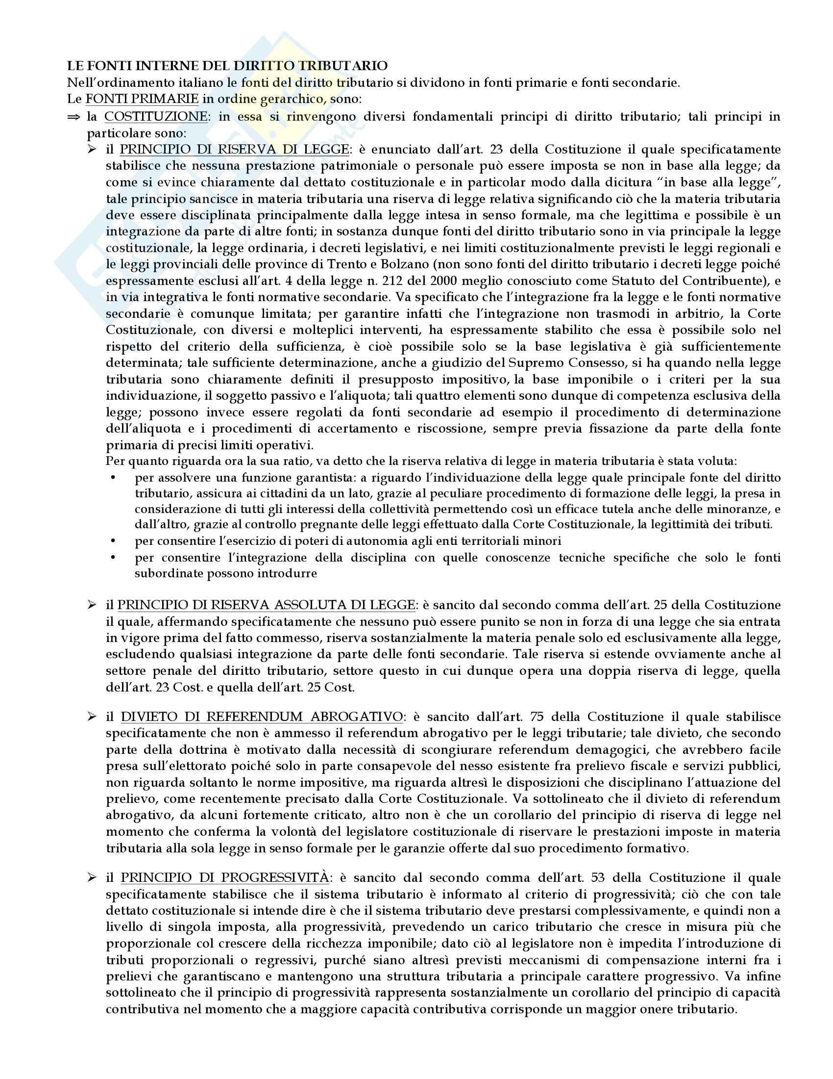 Diritto tributario - Appunti Pag. 6