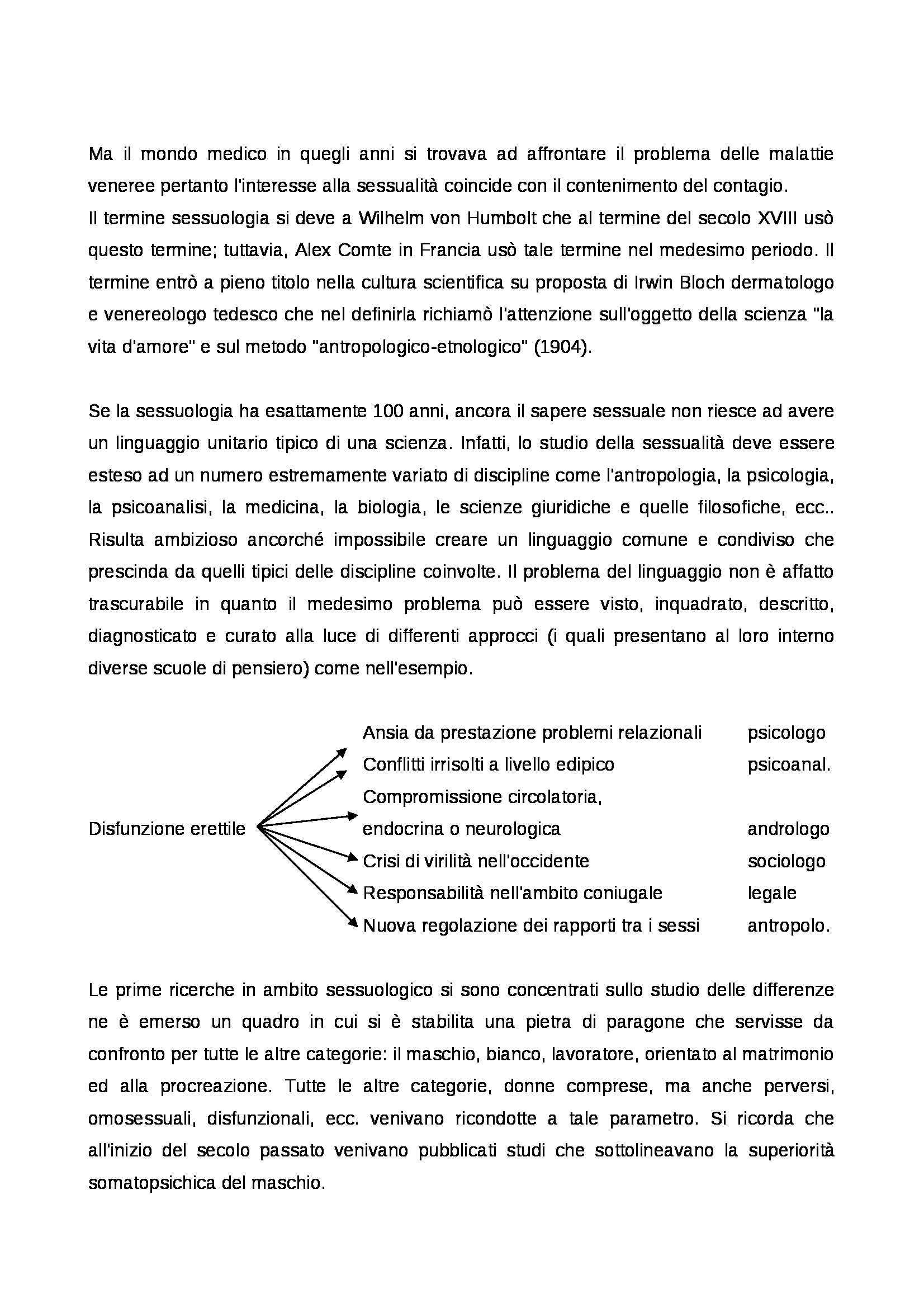 Psicologia della sessualità - definizione e storia del termine sessualità Pag. 2