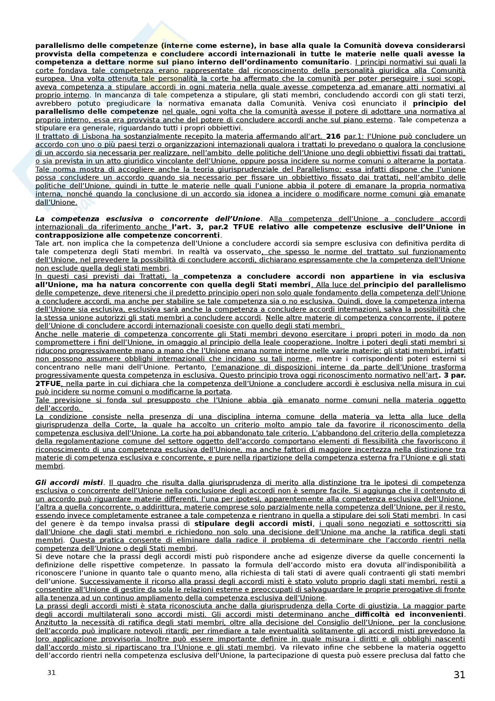 Riassunto esame Diritto dell'Unione Europea, prof. Castangia, libro consigliato Istituzioni di Diritto dell'Unione Europea, Villani Pag. 31
