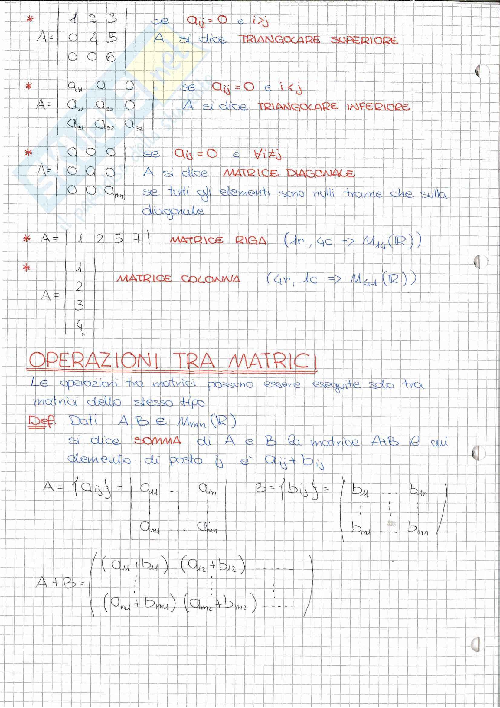 Riassunto esame Geometria (Algebra Lineare), prof. Nelli, libro consigliato Algebra lineare, Capocasa, Medori Pag. 2