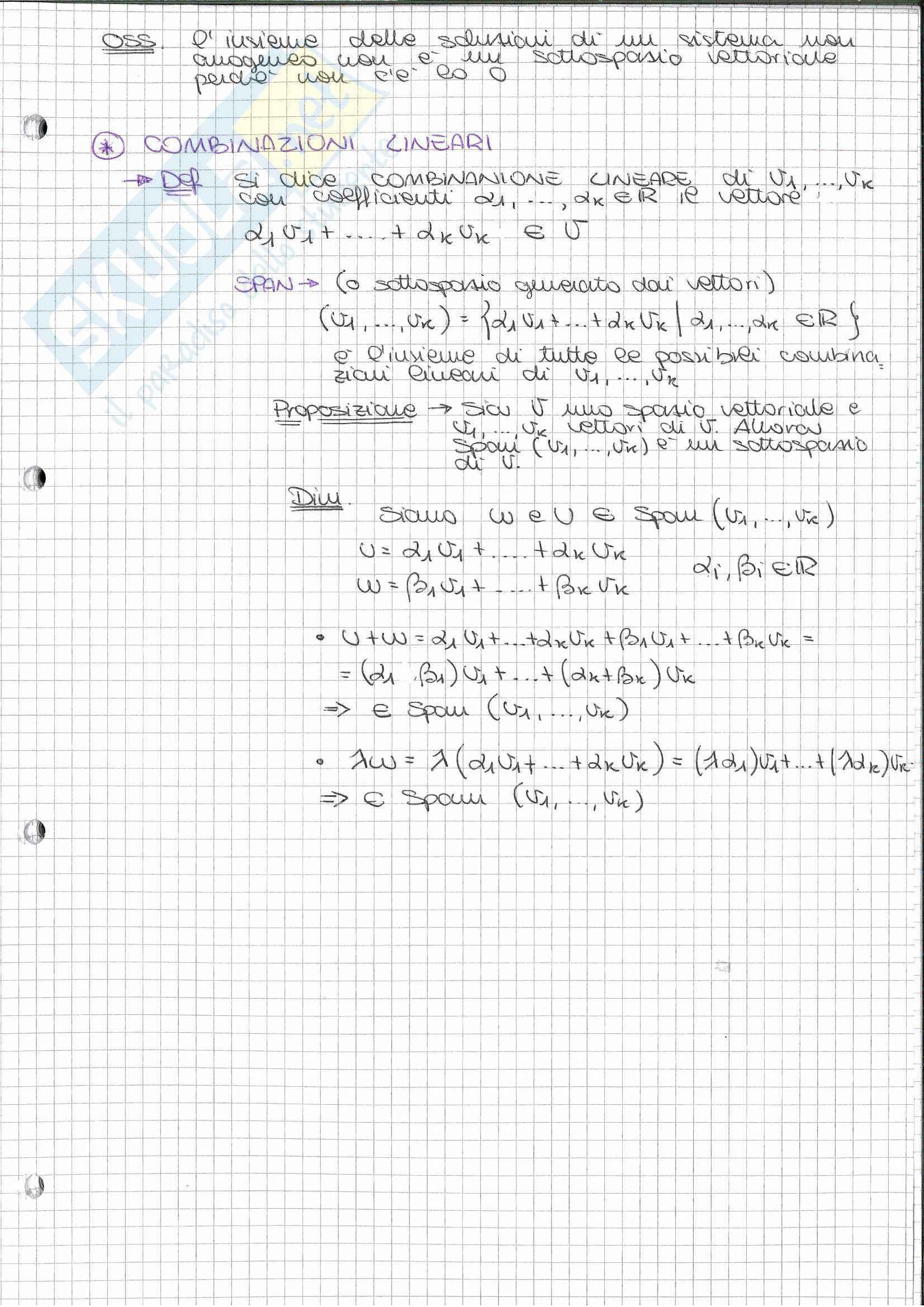 Riassunto esame Geometria (Algebra Lineare), prof. Nelli, libro consigliato Algebra lineare, Capocasa, Medori Pag. 21