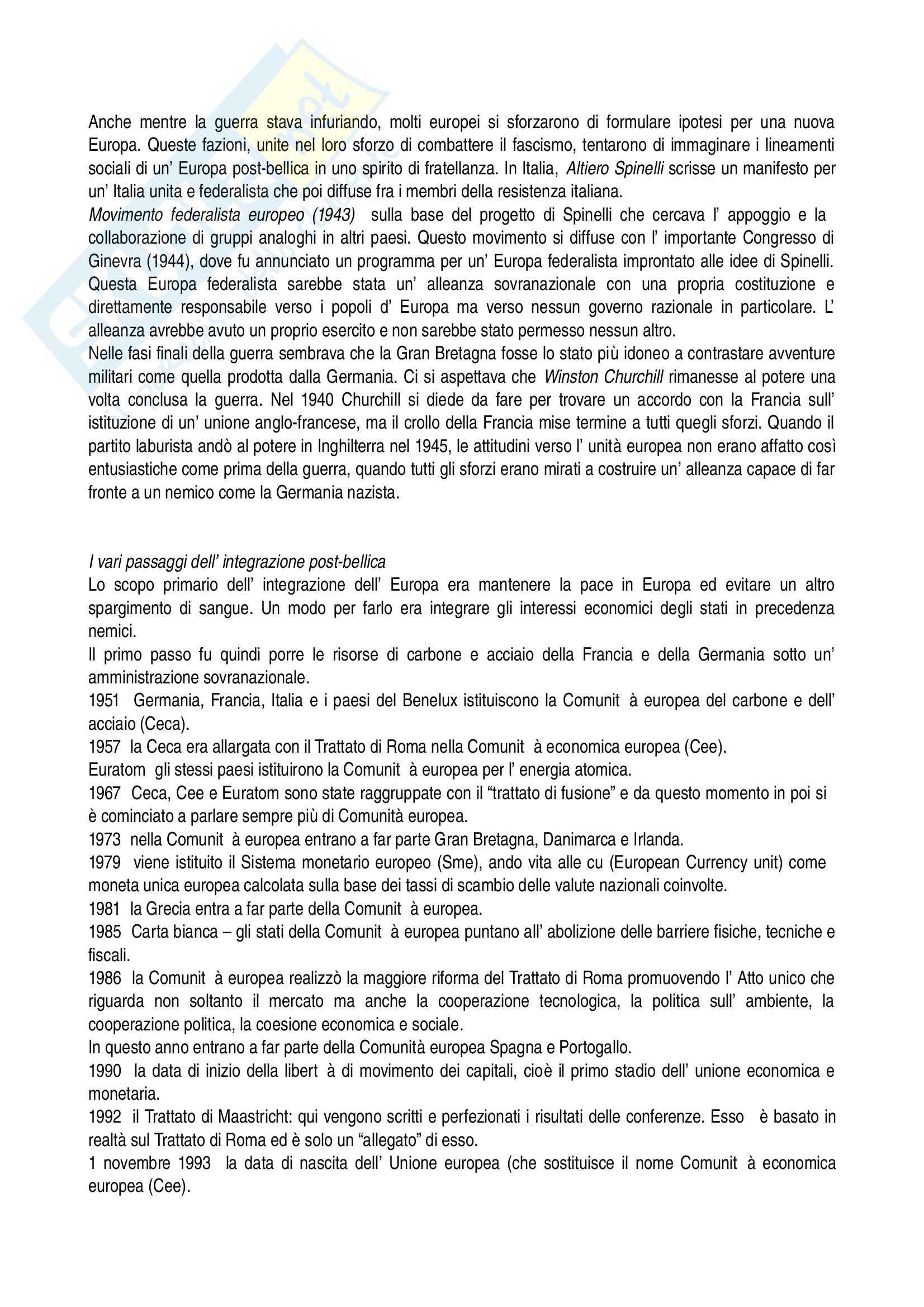 Riassunto esame Storia dell'Europa, prof. Zannini, libro consigliato Europa: Storia di un'Idea e di un'Identità di Mikkeli Pag. 16