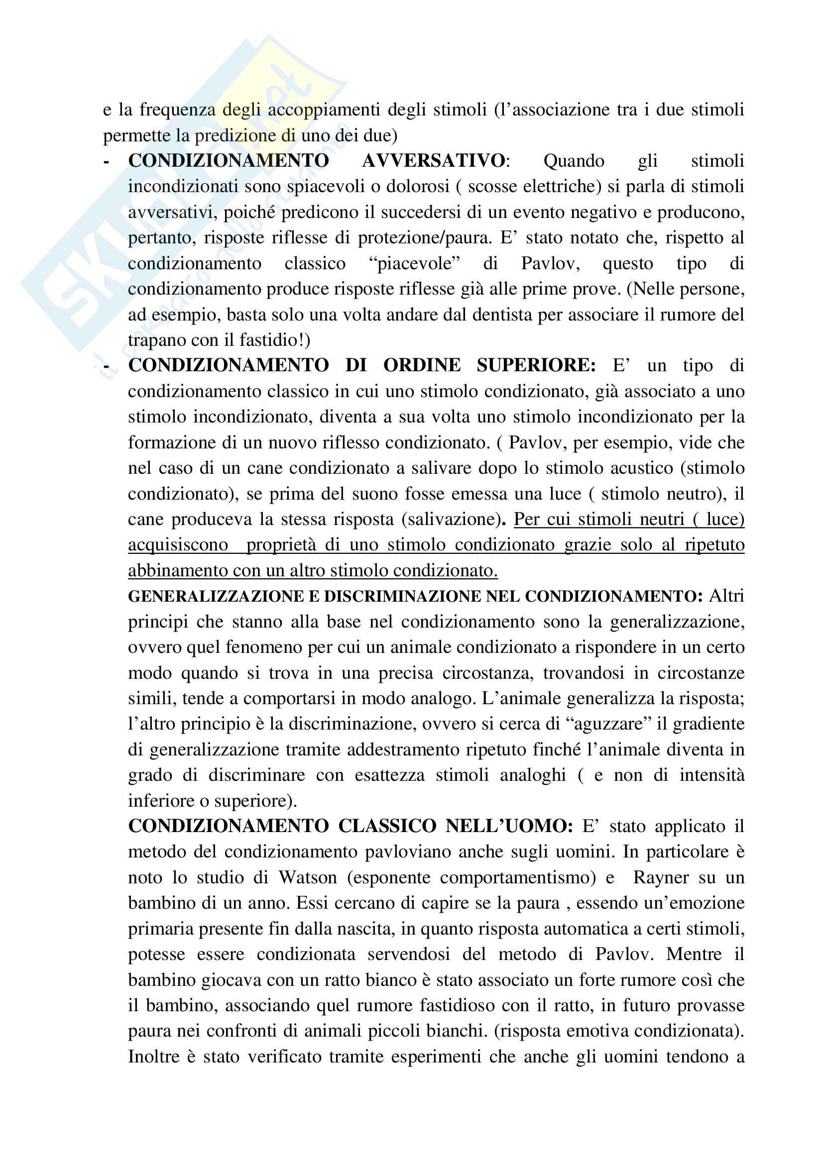 Riassunto esame psicologia generale, prof.ssa Cicogna, libro consigliato Psicologia generale, Cicogna, Occhionero Pag. 21