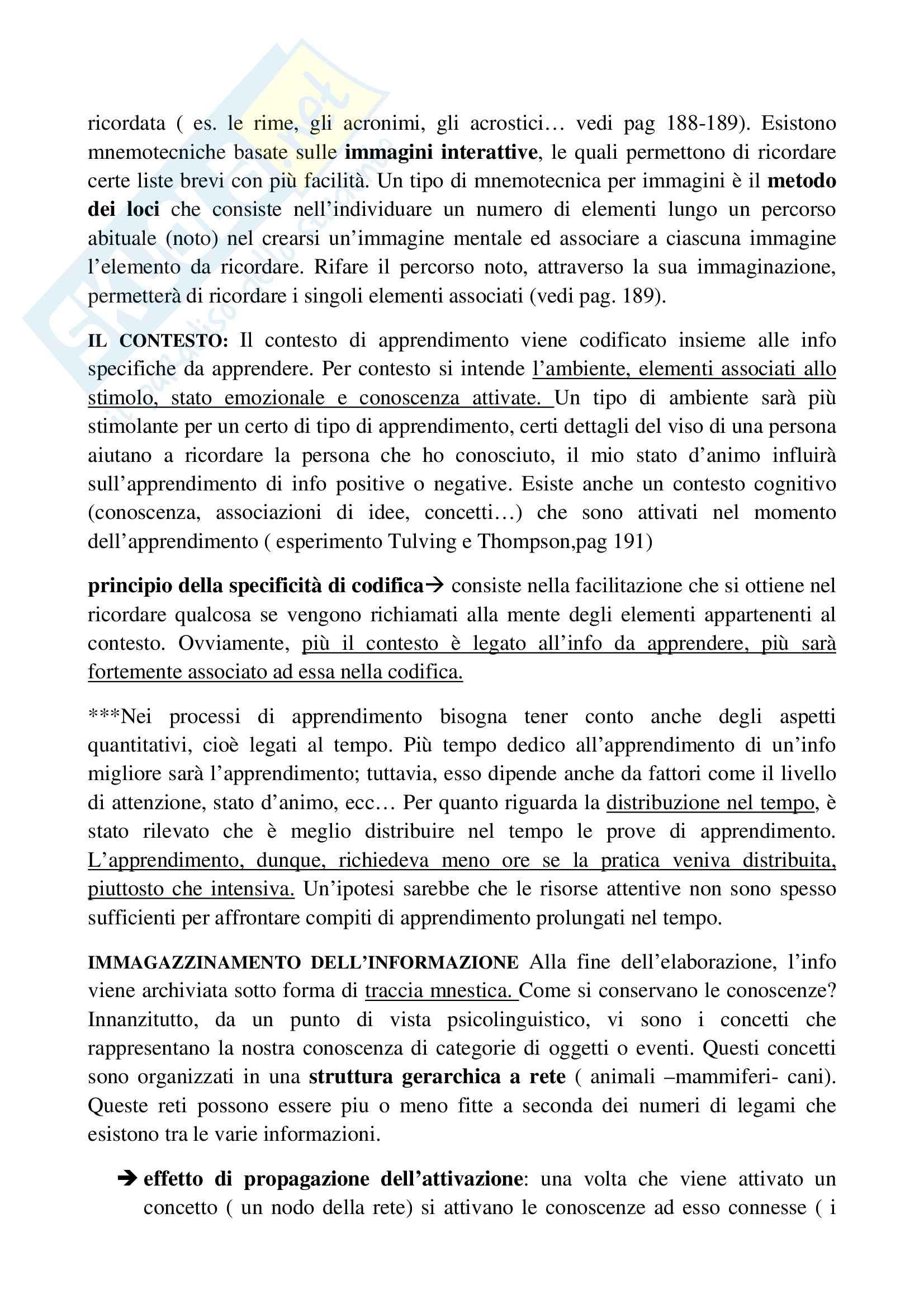 Riassunto esame psicologia generale, prof.ssa Cicogna, libro consigliato Psicologia generale, Cicogna, Occhionero Pag. 31