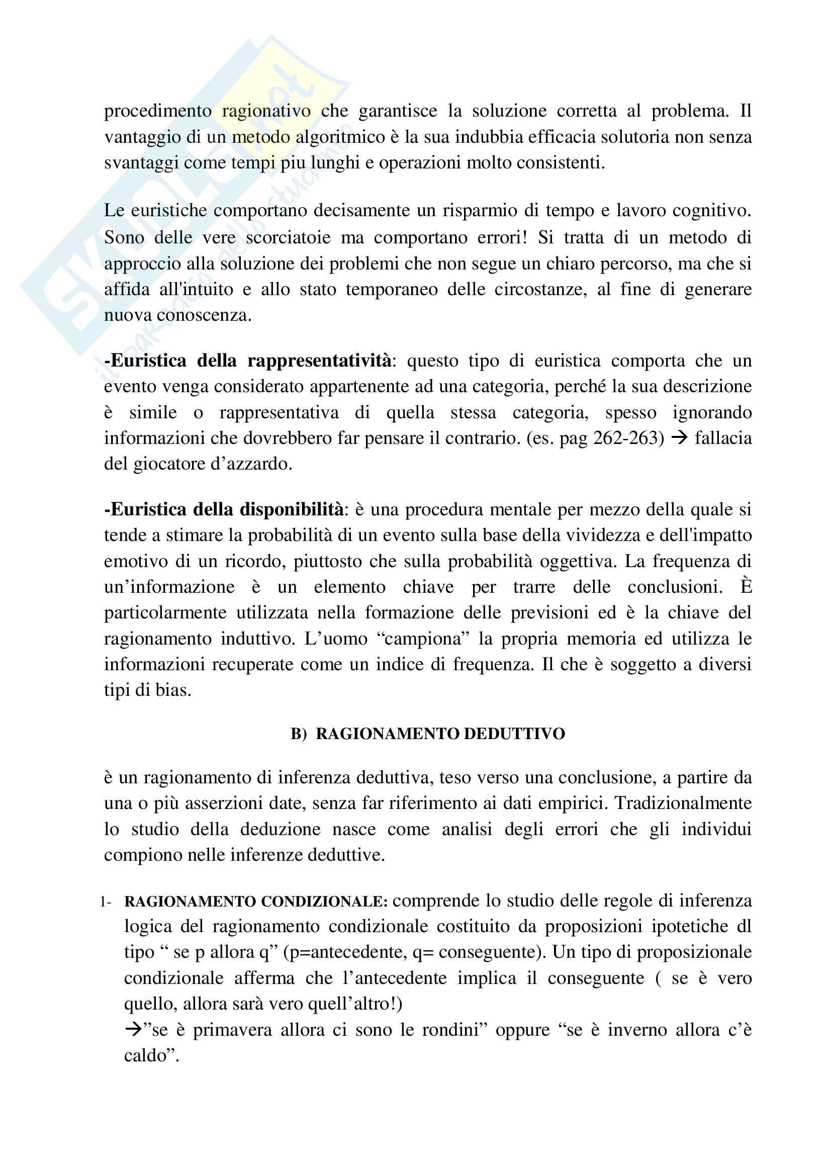 Riassunto esame psicologia generale, prof.ssa Cicogna, libro consigliato Psicologia generale, Cicogna, Occhionero Pag. 46