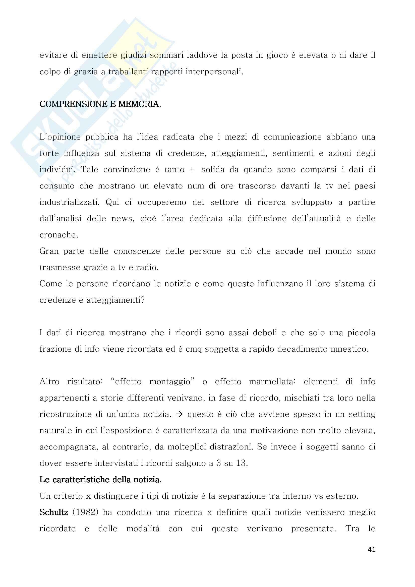 Riassunto esame Comunicazione e persuasione, prof. Arcuri, libro consigliato La trasmissione dei pensieri Pag. 41