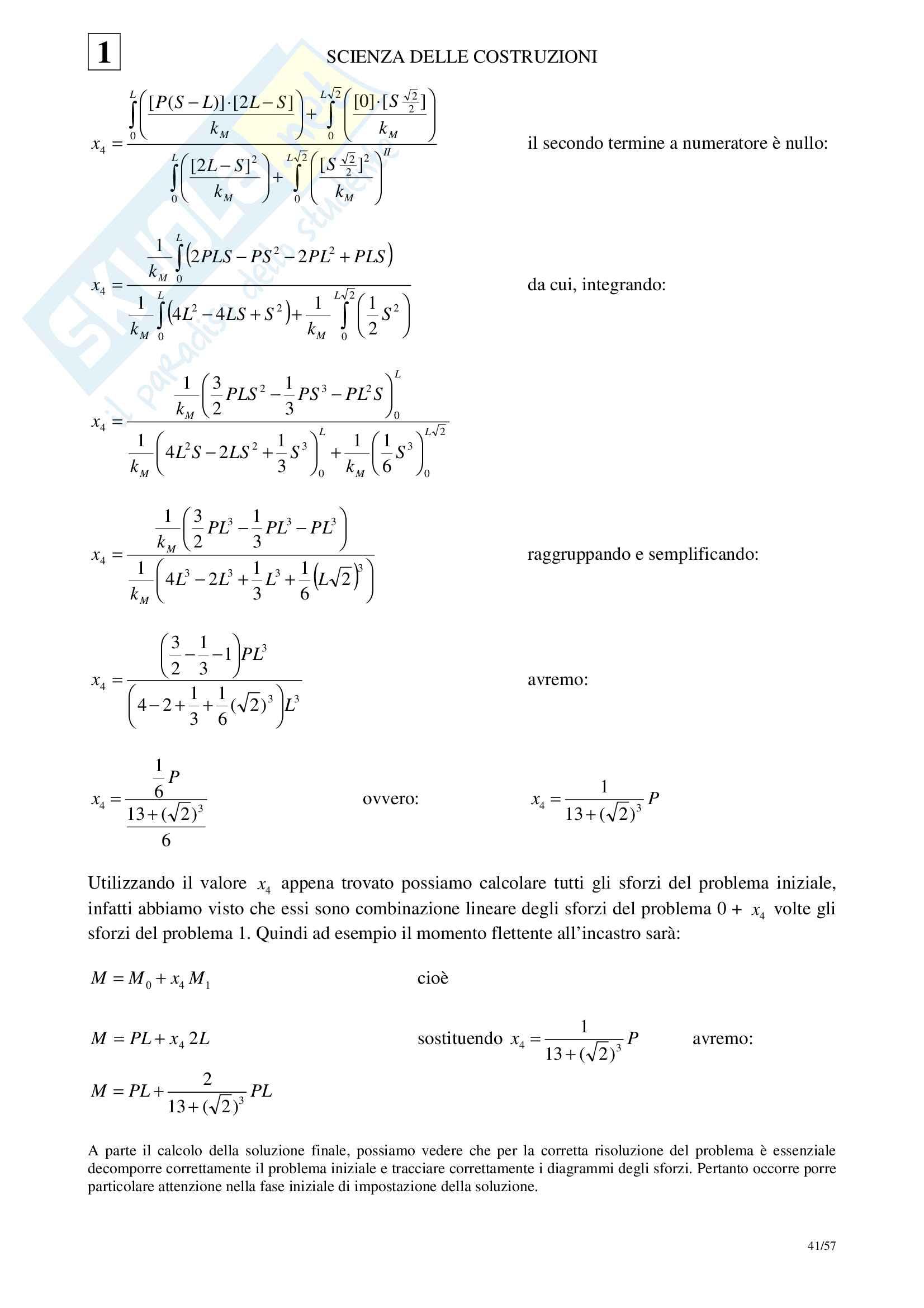 01 Scienza delle Costruzioni - Cinematica Statica Principio dei Lavori Virtuali Pag. 41