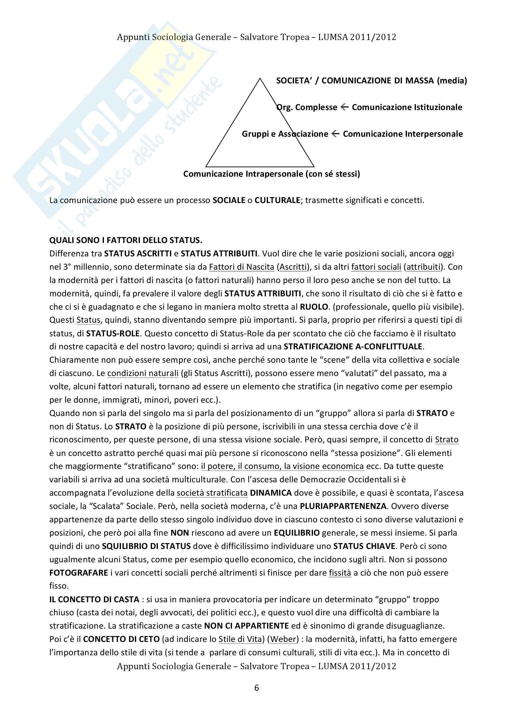 Lezioni, Sociologia Generale Pag. 6