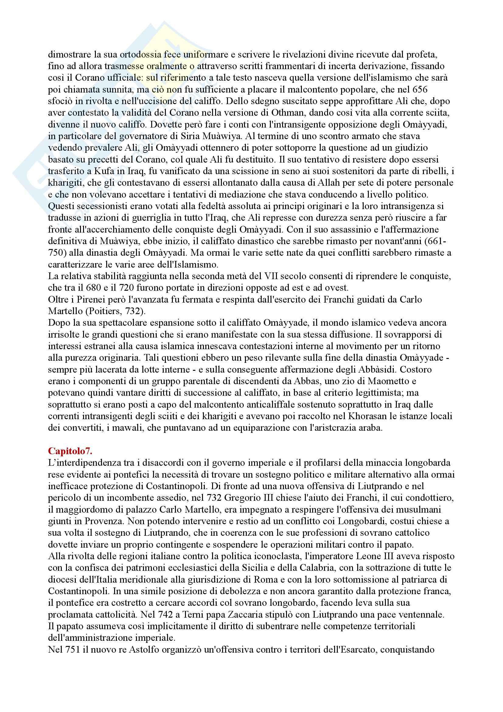 Riassunto esame Storia medievale, prof. Di Carpegna, libro consigliato Quel tempo chiamato Medioevo, Dondarini Pag. 11