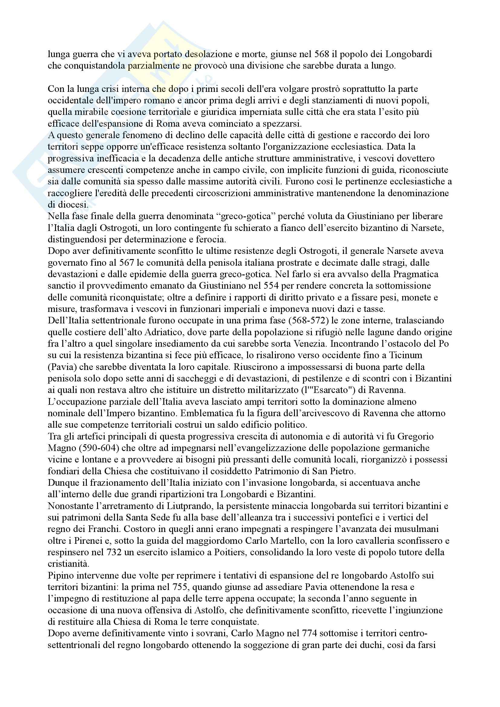 Riassunto esame Storia medievale, prof. Di Carpegna, libro consigliato Quel tempo chiamato Medioevo, Dondarini Pag. 16