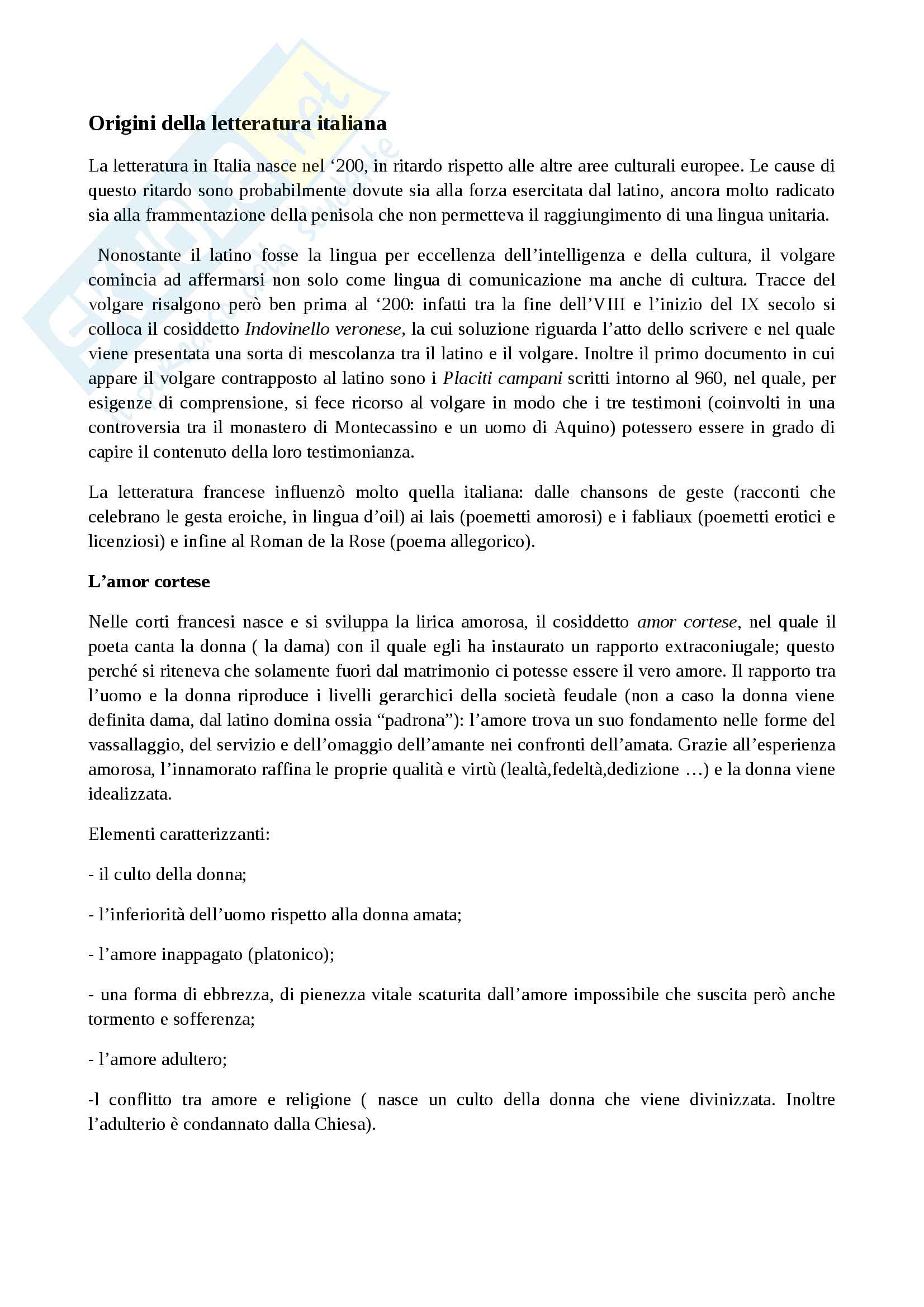 appunto M. Surdich Letteratura italiana