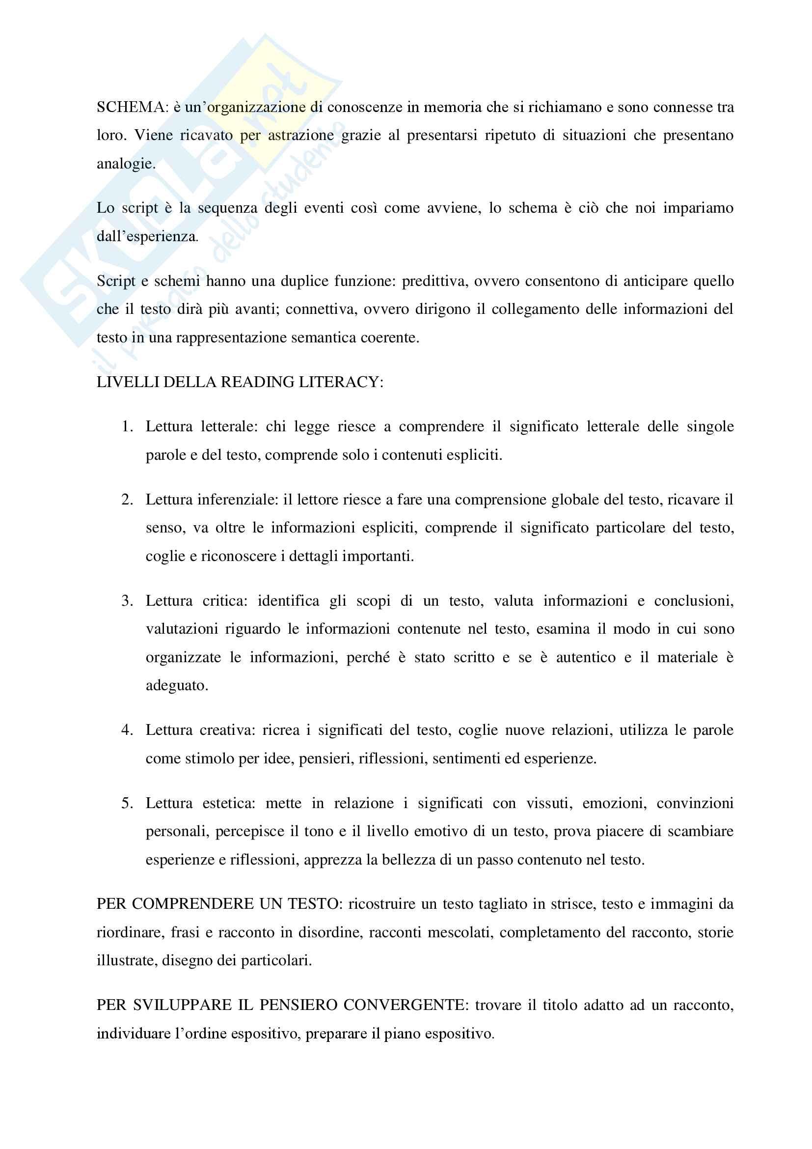 Appunti Didattica della lettura e della scrittura Pag. 2