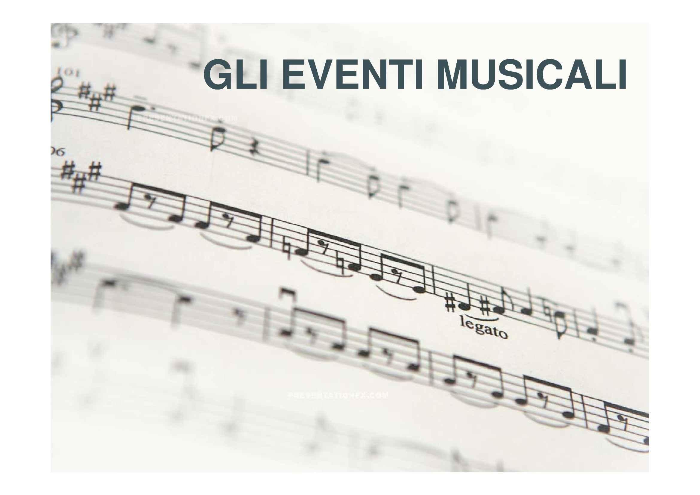 Eventi musicali
