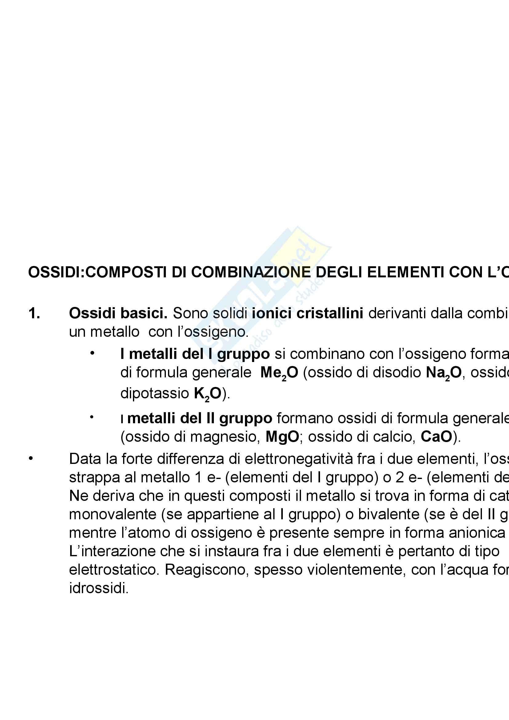 appunto G. Bruno Chimica inorganica