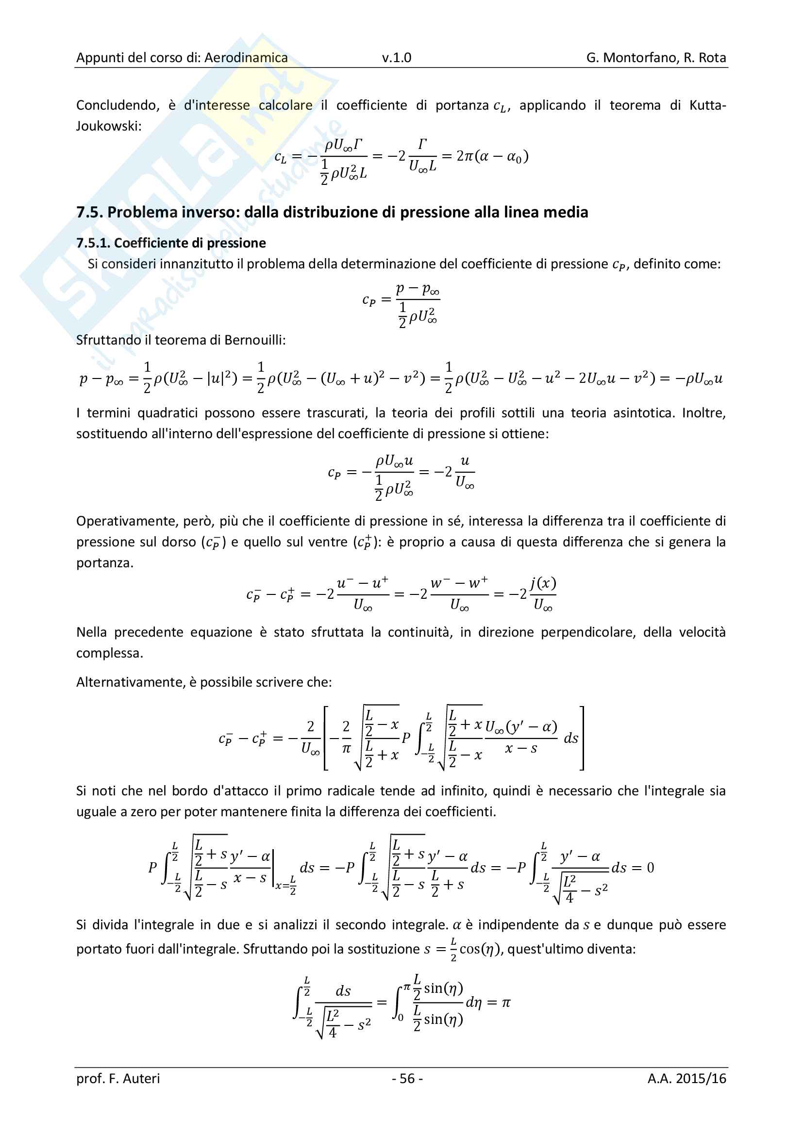 Appunti di Aerodinamica Pag. 66