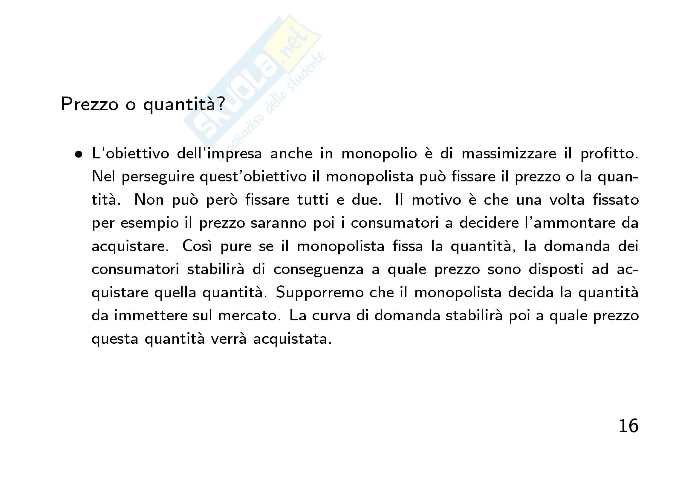 Economia finanziaria - la  mano invisibile Pag. 16