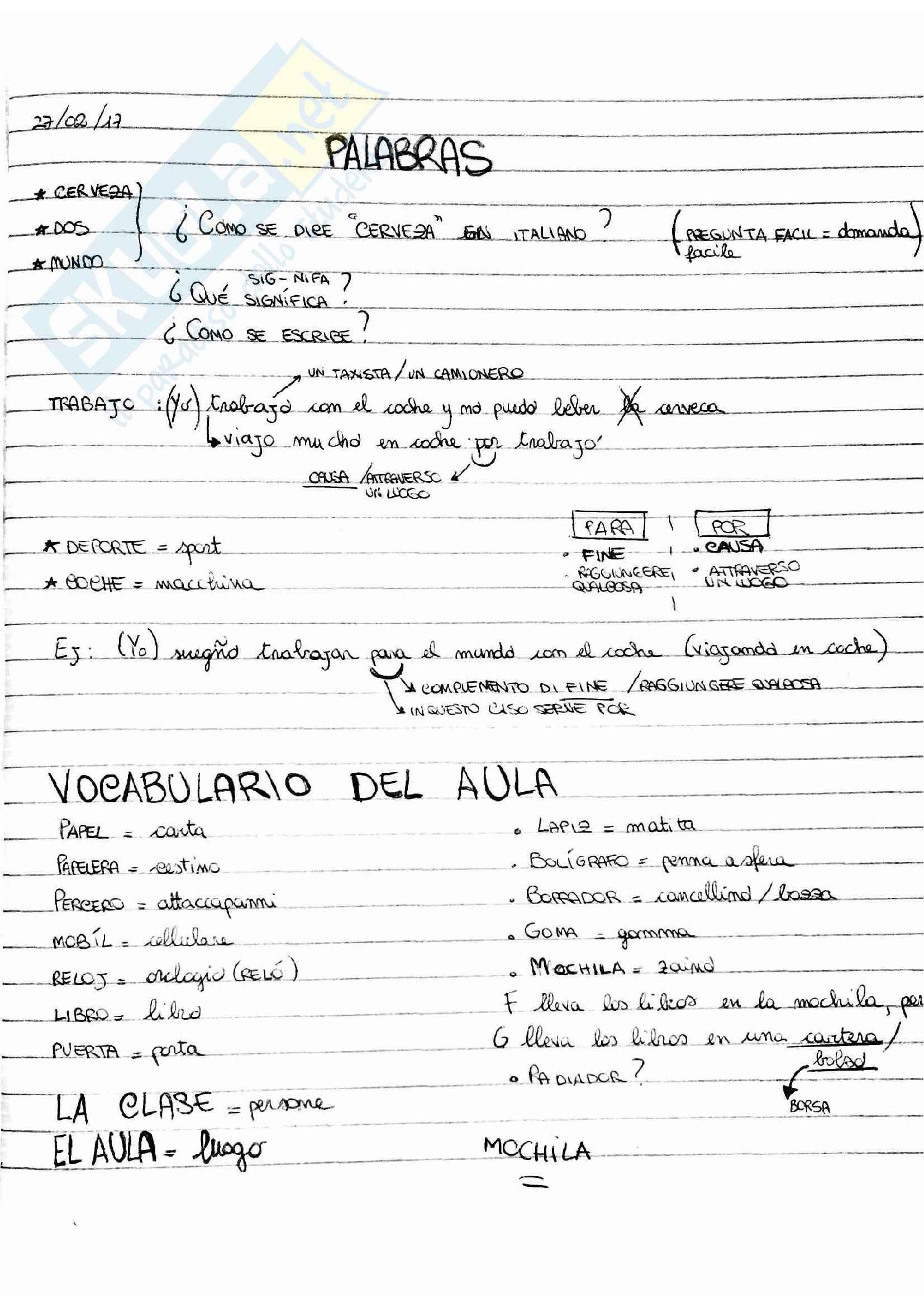 Lessico per spagnolo B1