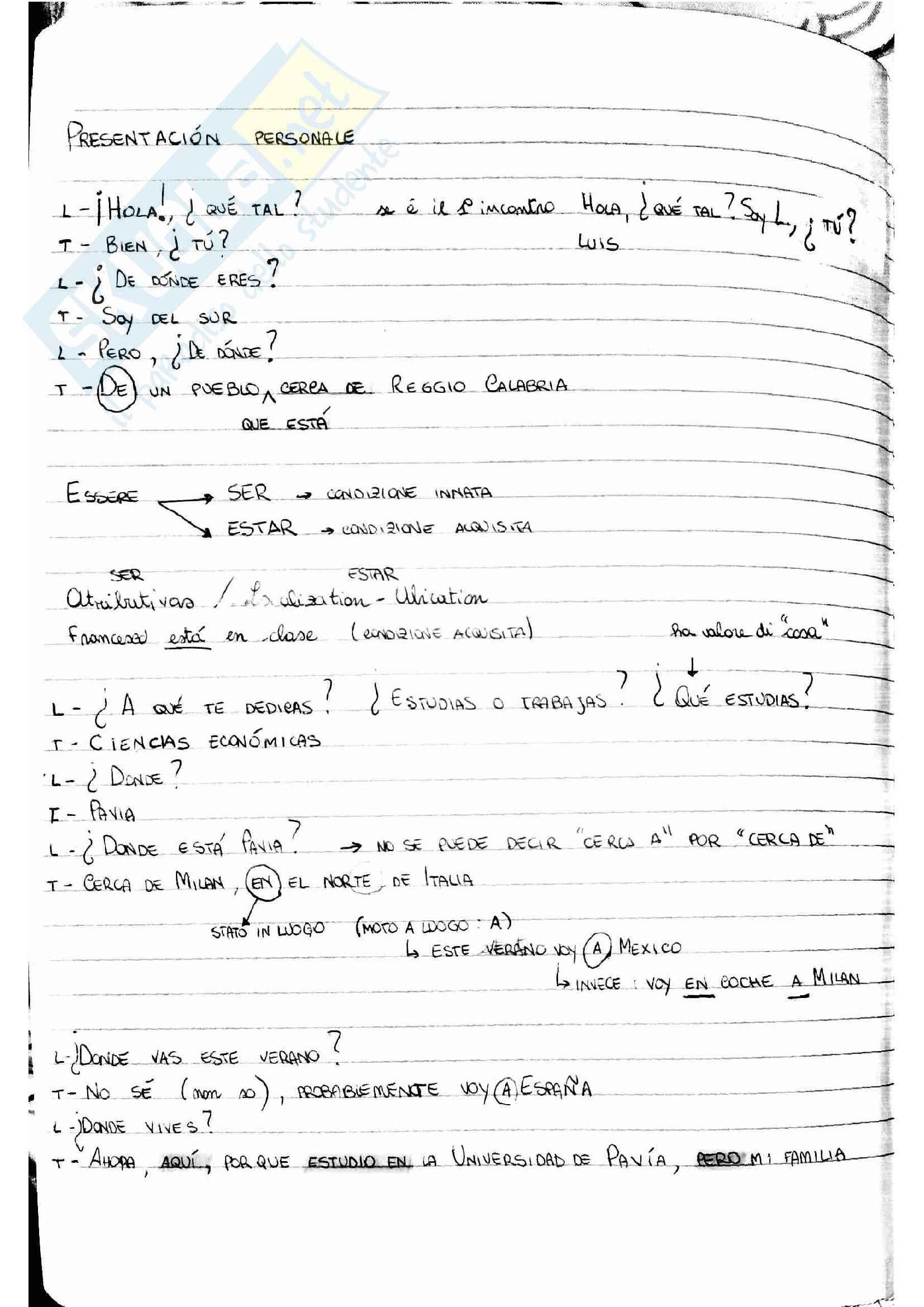 Lessico per spagnolo B1 Pag. 2