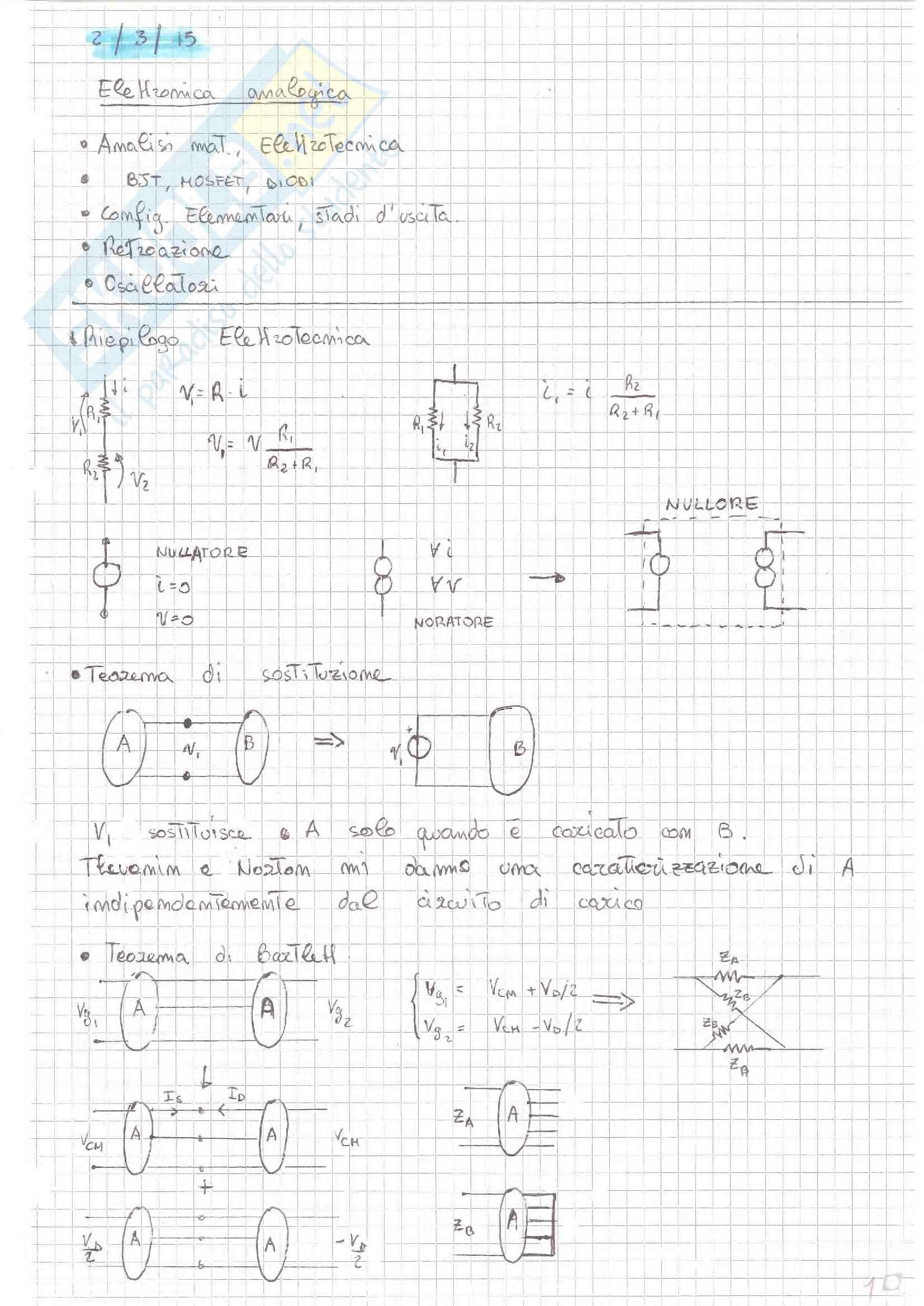 Elettronica Analogica - Teoria