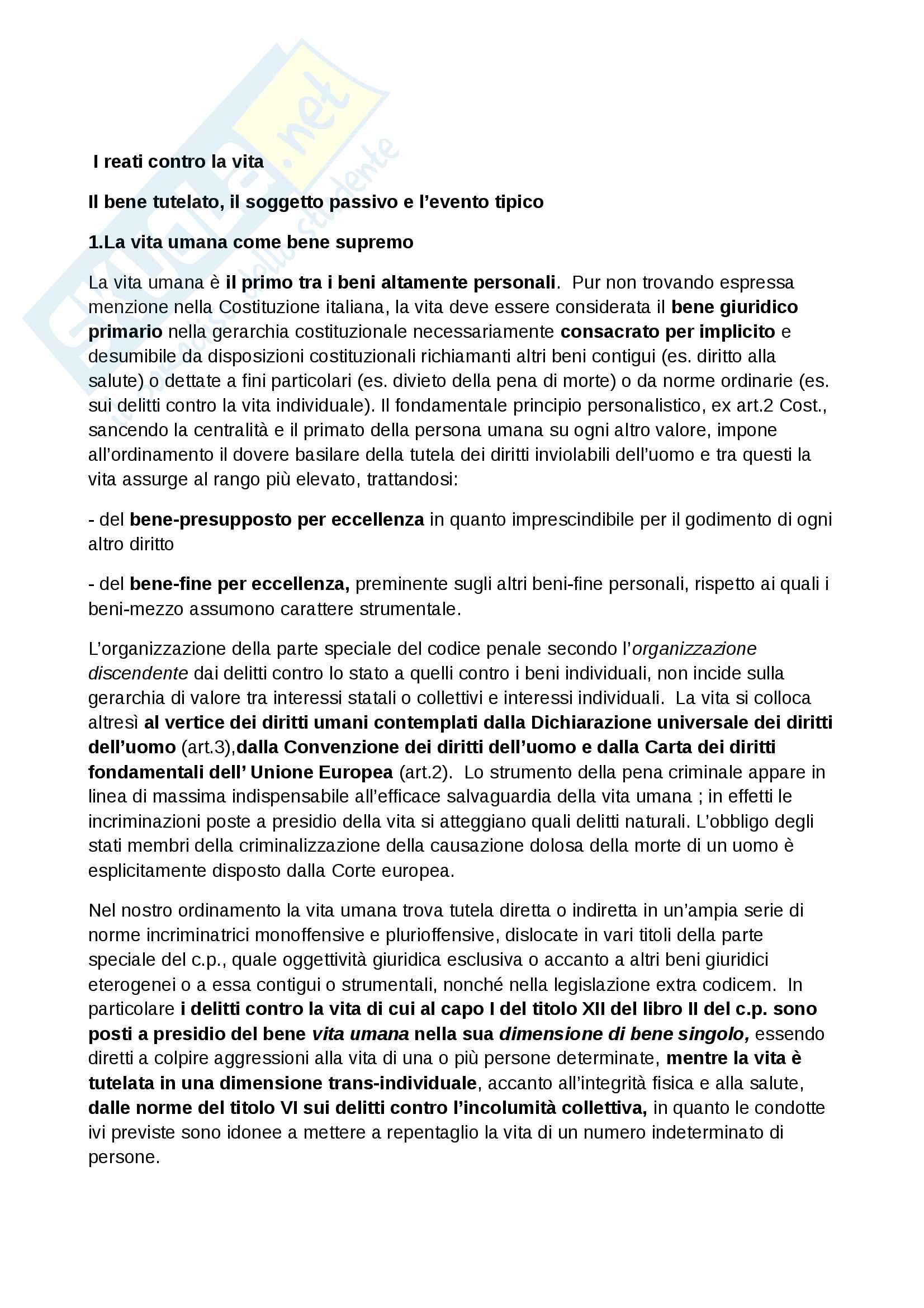 appunto M. Catenacci Diritto Penale II