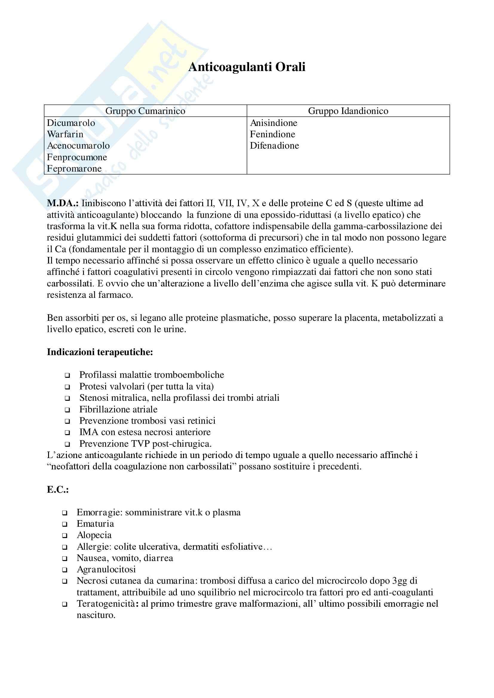 Anticoagulanti orali