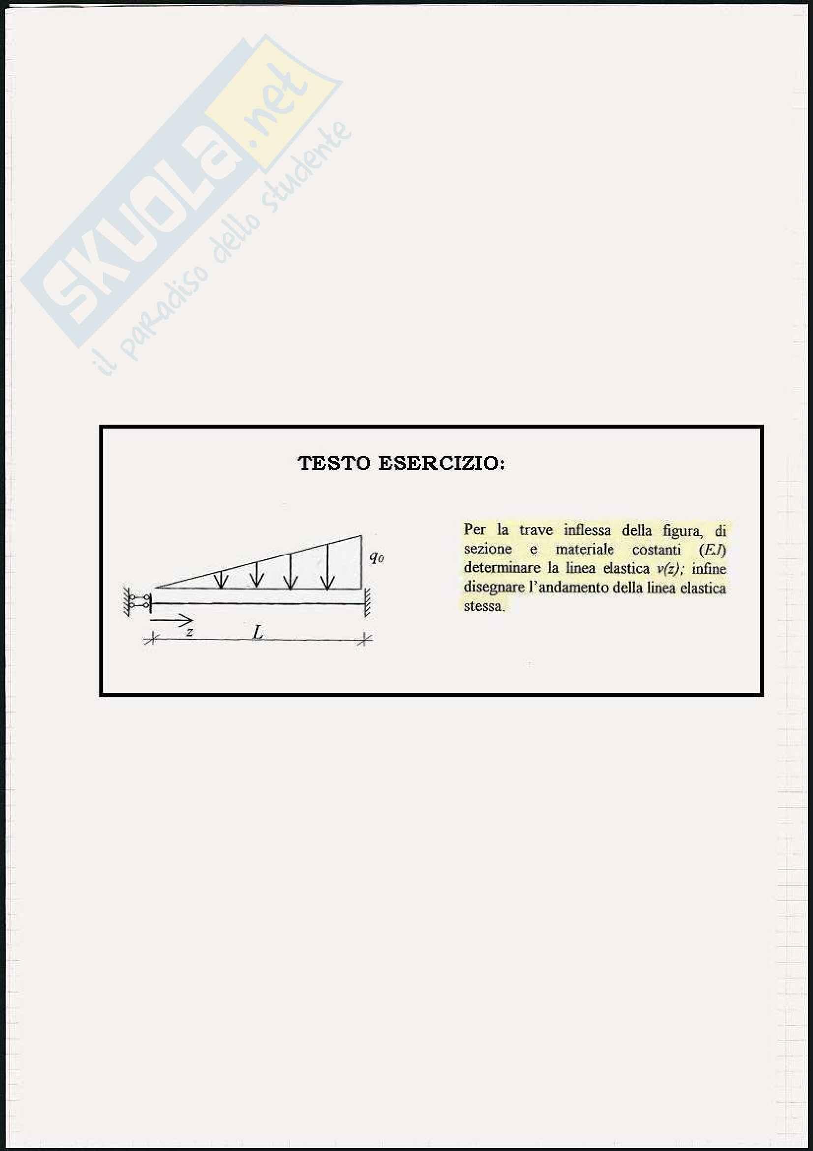 Scienza delle costruzioni - Esercizi sulla linea elastica e Mohr