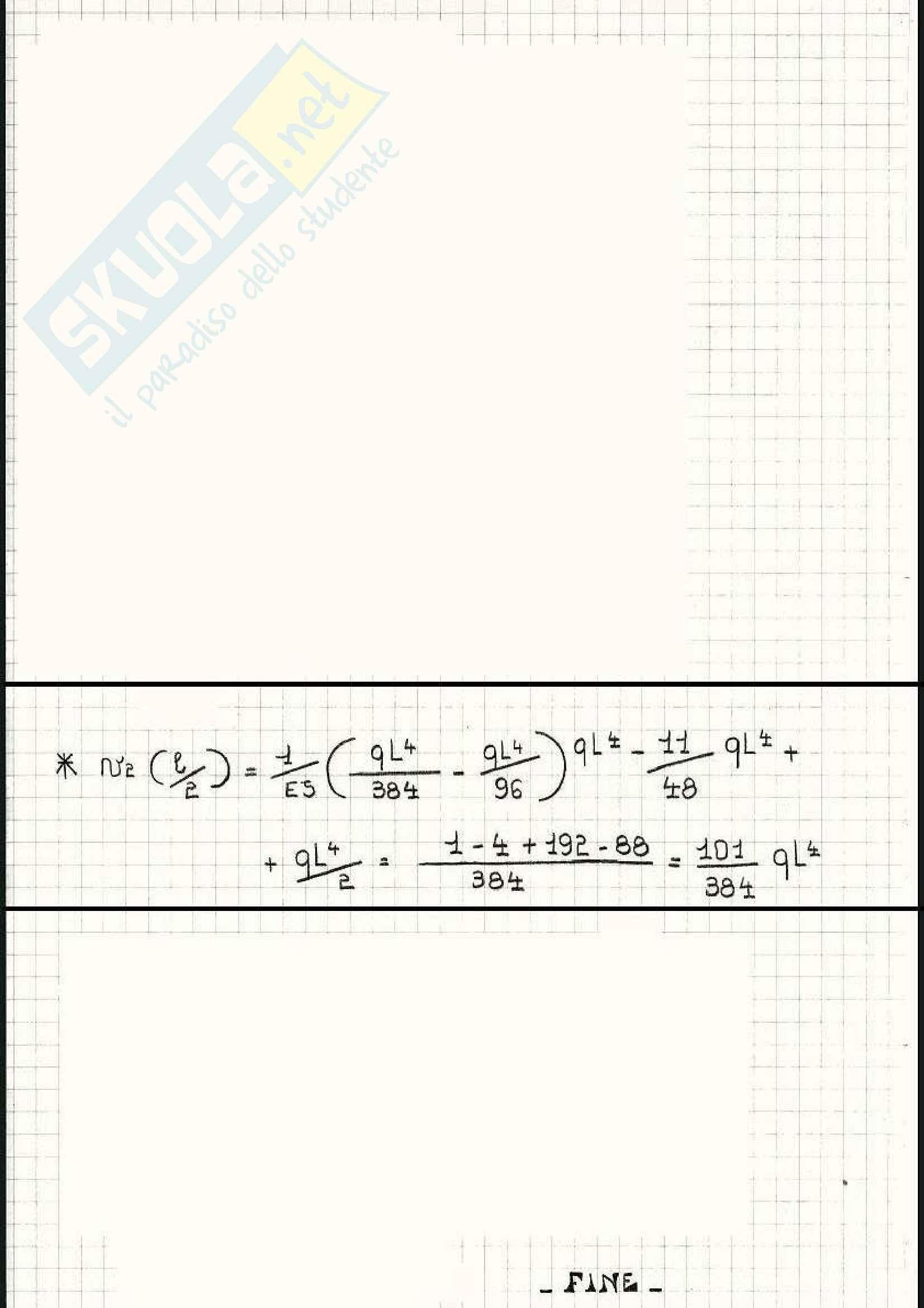 Scienza delle costruzioni - Esercizi sulla linea elastica e Mohr Pag. 16