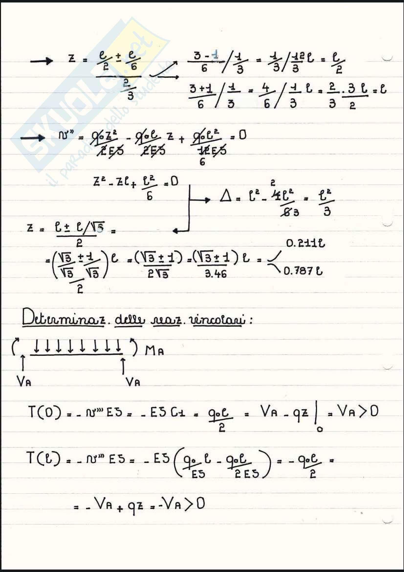 Scienza delle costruzioni - Esercizi sulla linea elastica e Mohr Pag. 41