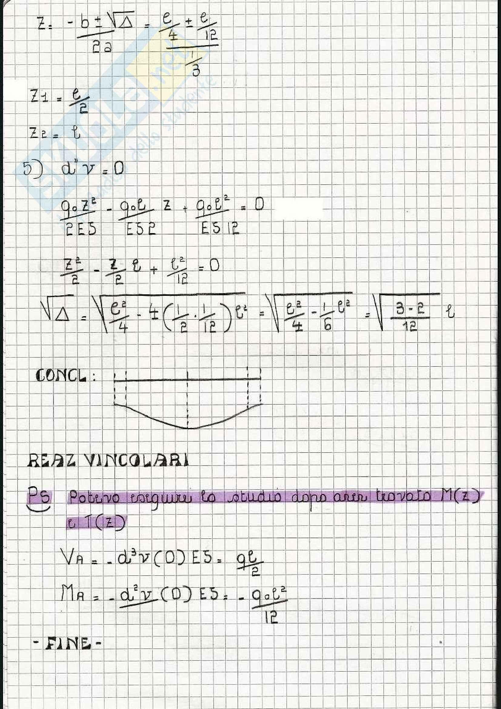 Scienza delle costruzioni - Esercizi sulla linea elastica e Mohr Pag. 51