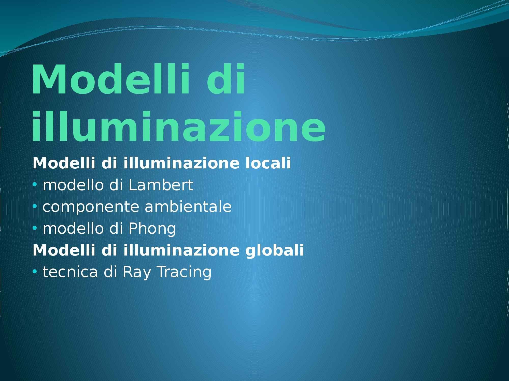 appunto D. Marini Informatica grafica