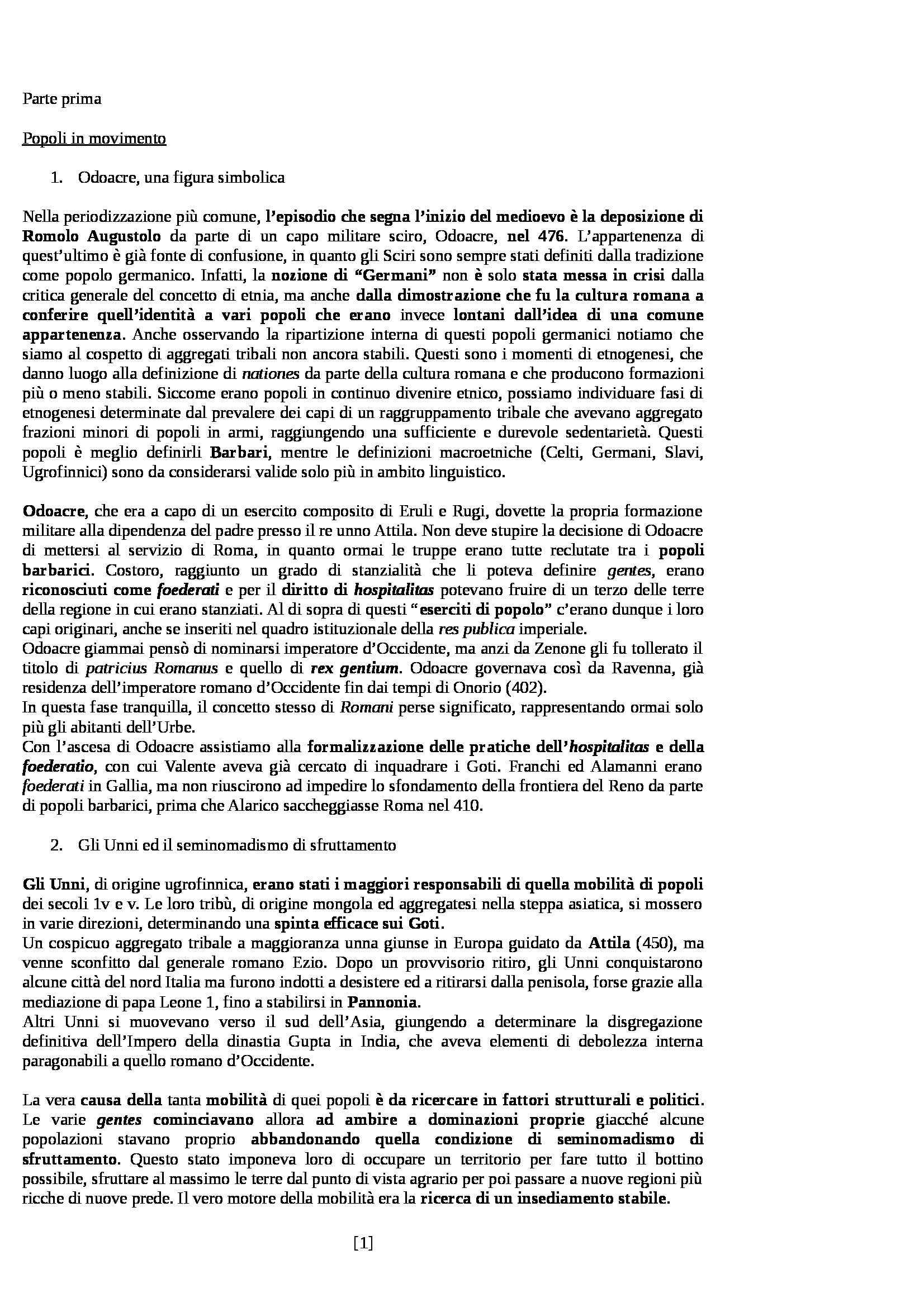 Riassunto esame Storia Medievale, prof. Sergi, libro consigliato Dieci Secoli di Medioevo di Bordone e Sergi