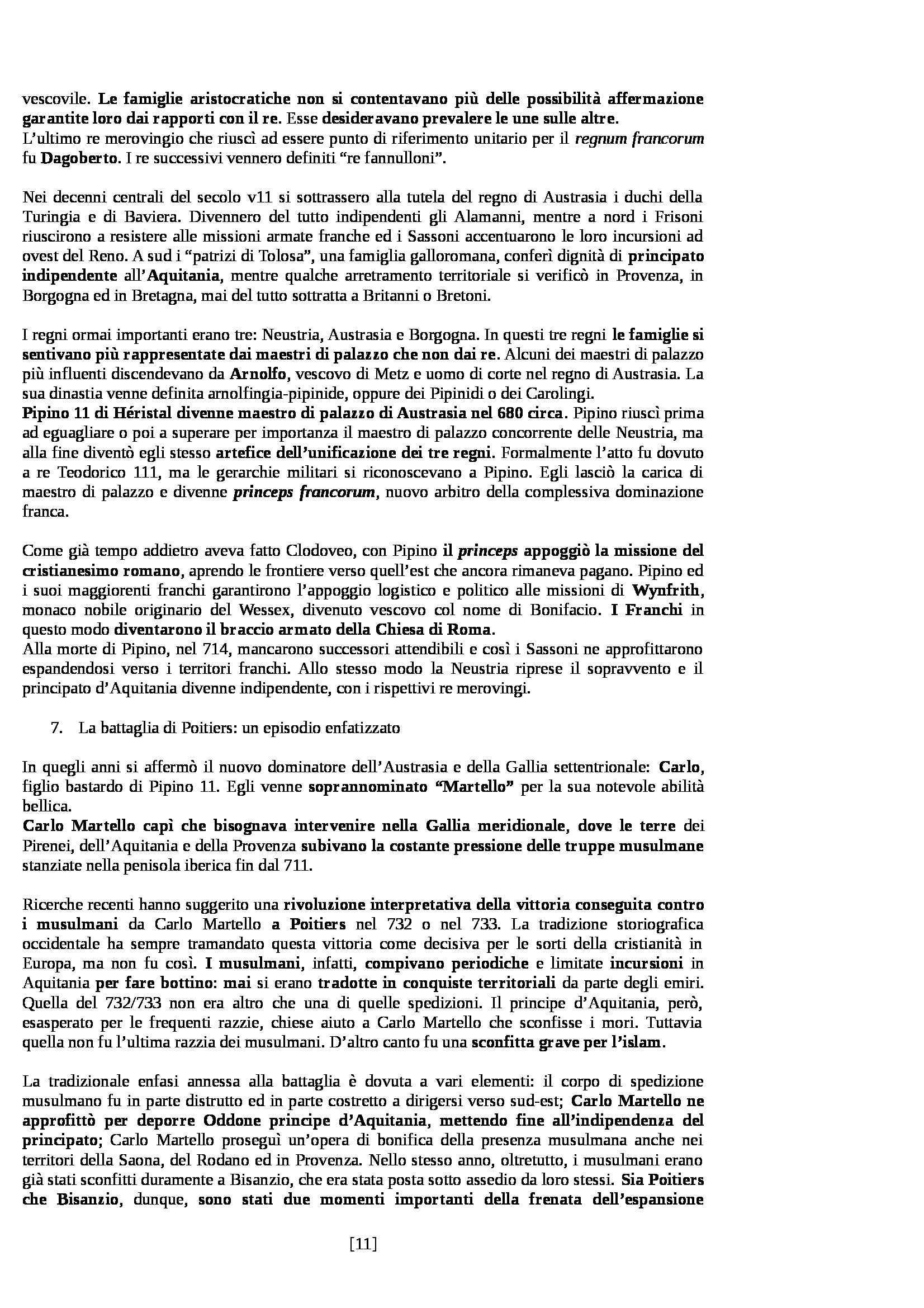 Riassunto esame Storia Medievale, prof. Sergi, libro consigliato Dieci Secoli di Medioevo di Bordone e Sergi Pag. 11