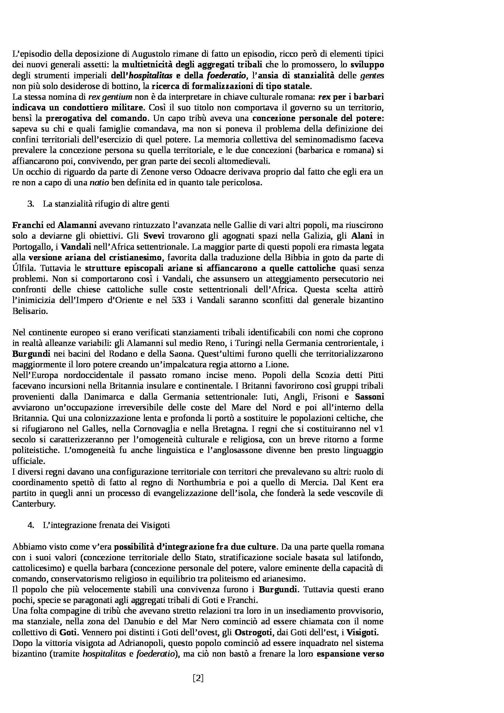 Riassunto esame Storia Medievale, prof. Sergi, libro consigliato Dieci Secoli di Medioevo di Bordone e Sergi Pag. 2