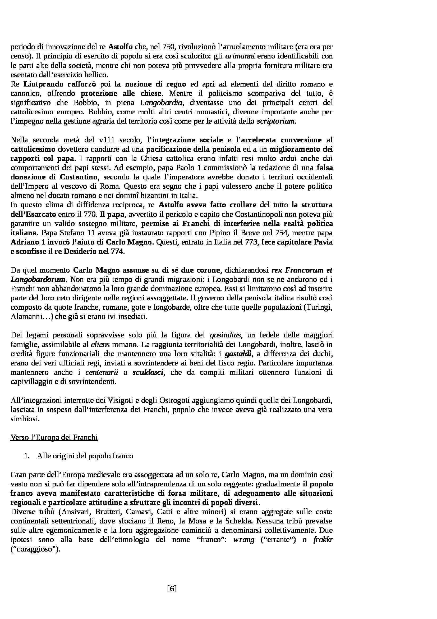 Riassunto esame Storia Medievale, prof. Sergi, libro consigliato Dieci Secoli di Medioevo di Bordone e Sergi Pag. 6