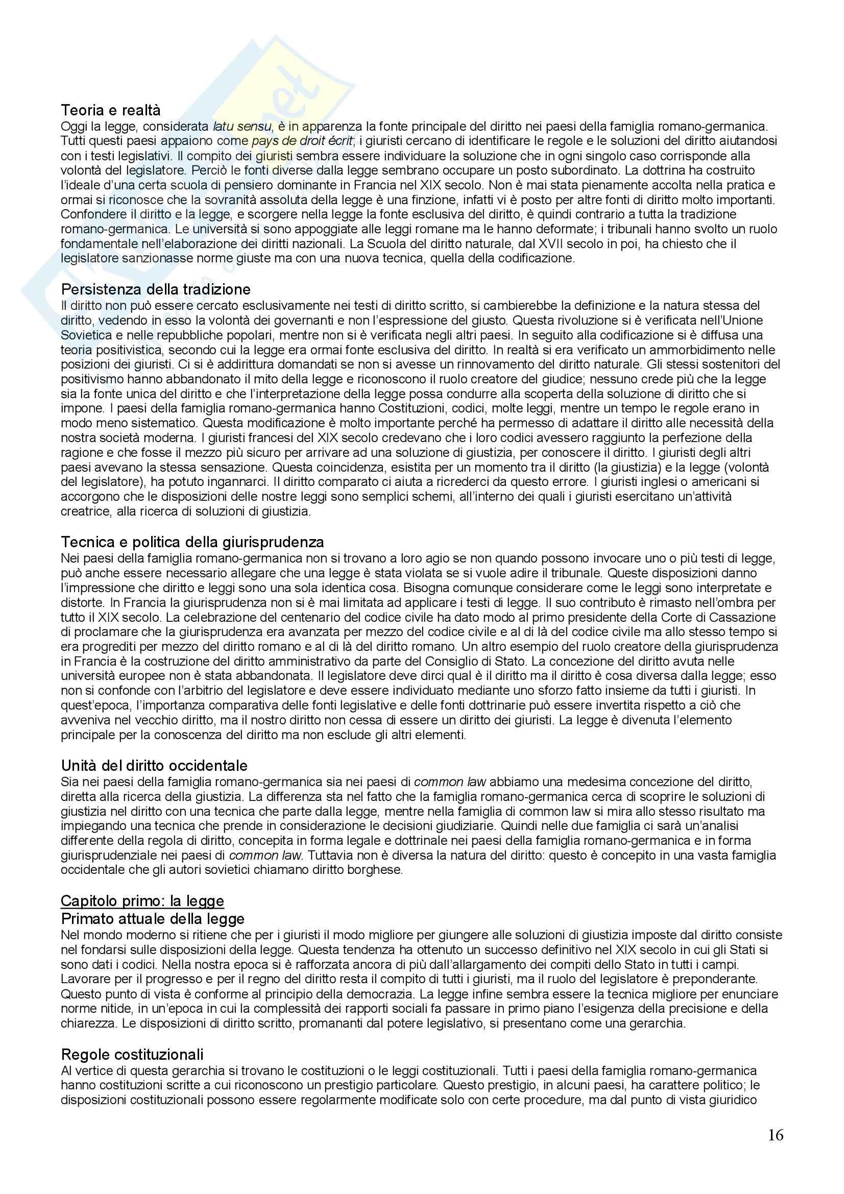Diritto comparato - sistemi giuridici Pag. 16