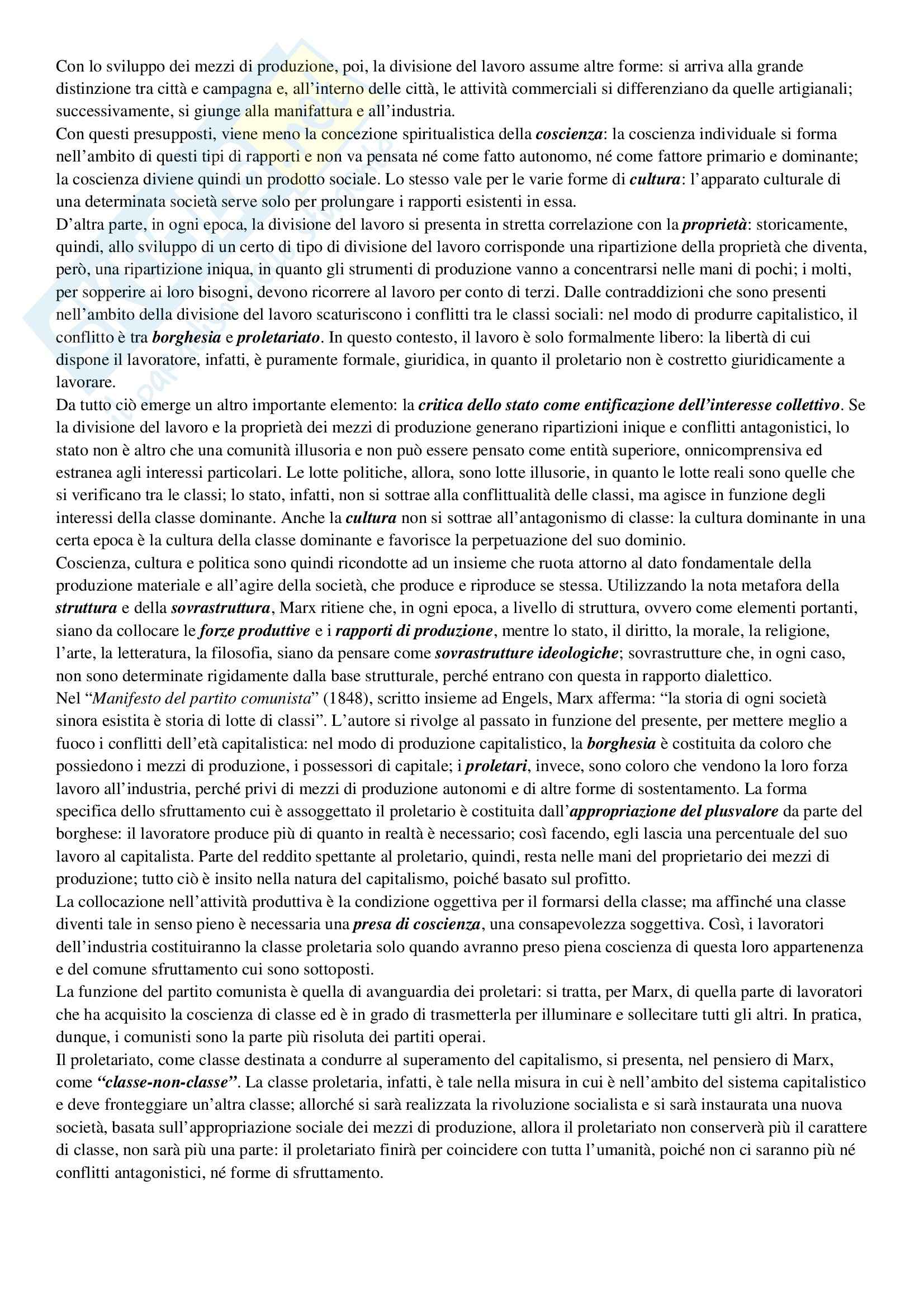 Riassunto esame Storia delle dottrine politiche, prof. De Boni, libro consigliato Storia delle dottrine politiche Pag. 36