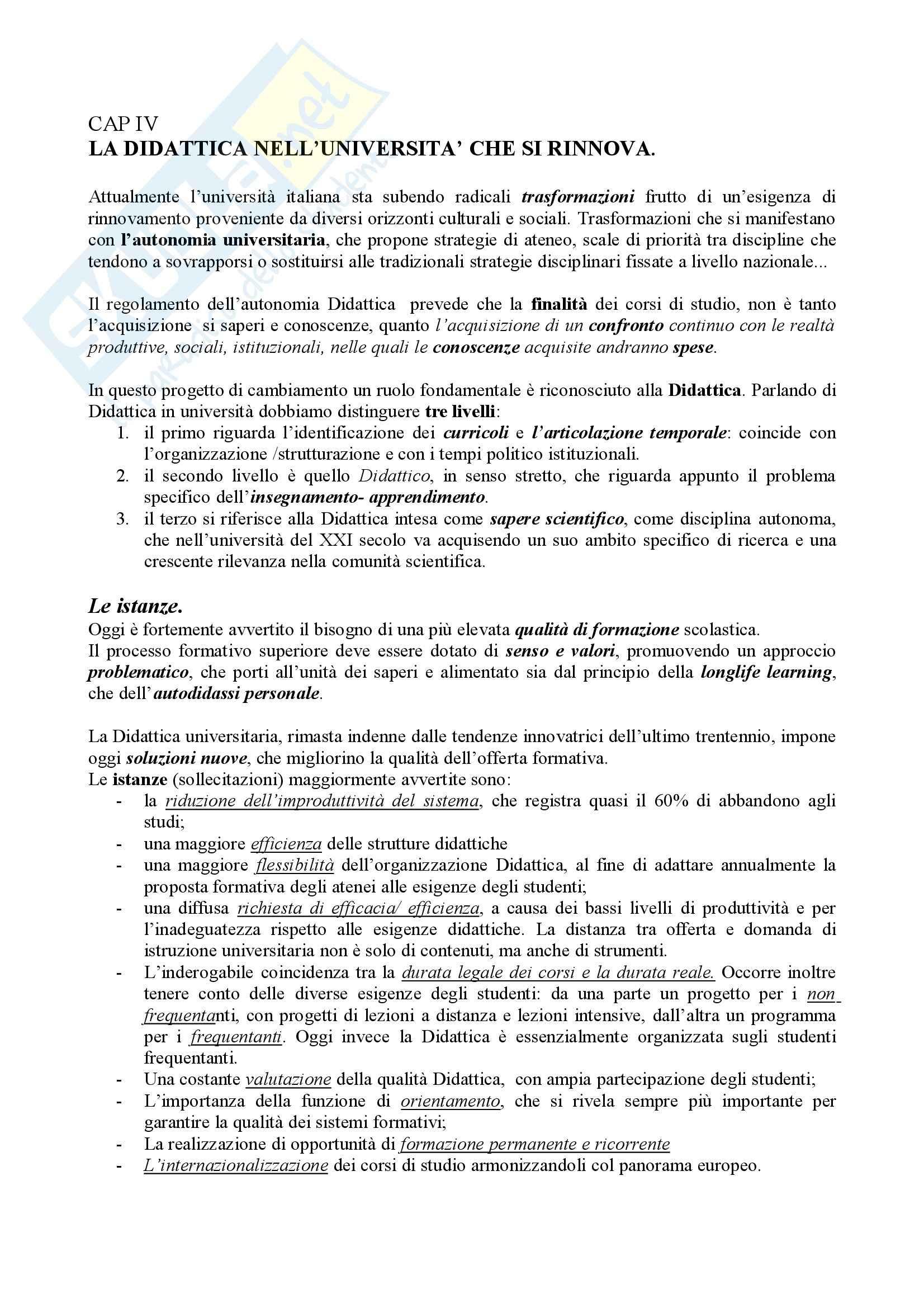 Didattica generale – Teoria e pratica Pag. 26