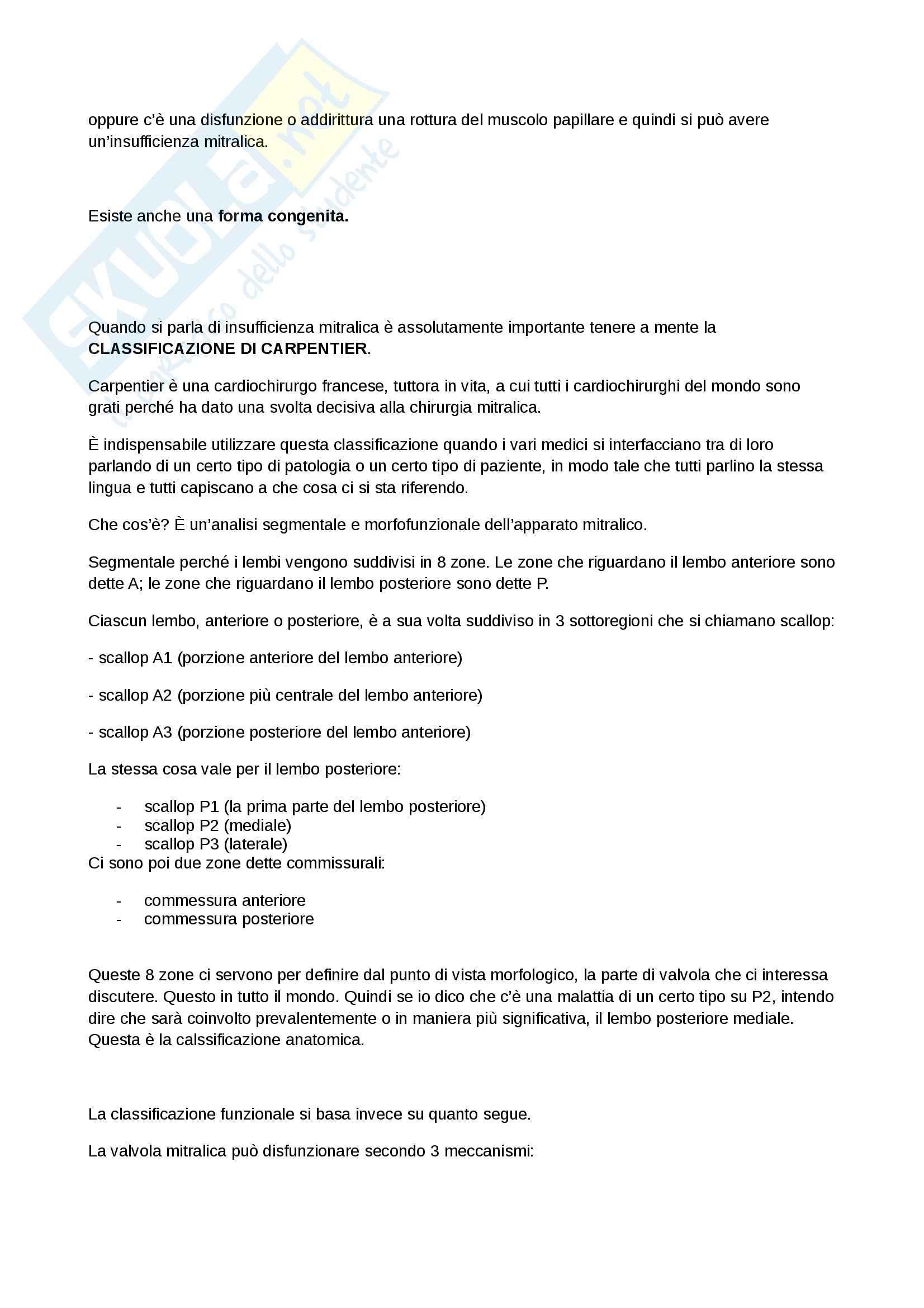 Malattie cardiovalscolari e respiratorie, Cardiochirurgia - Appunti Pag. 6