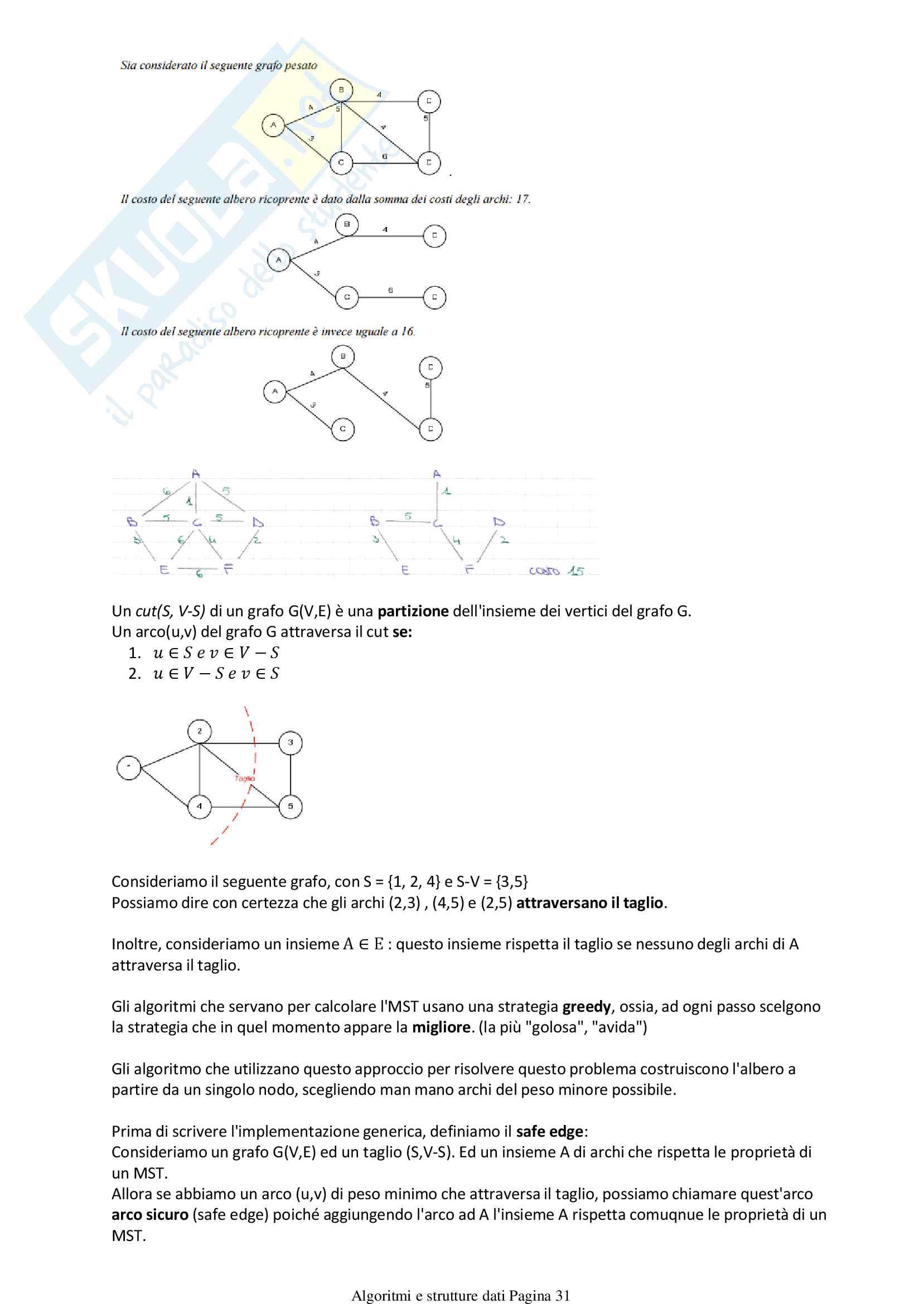 Algoritmi e strutture dati Pag. 31