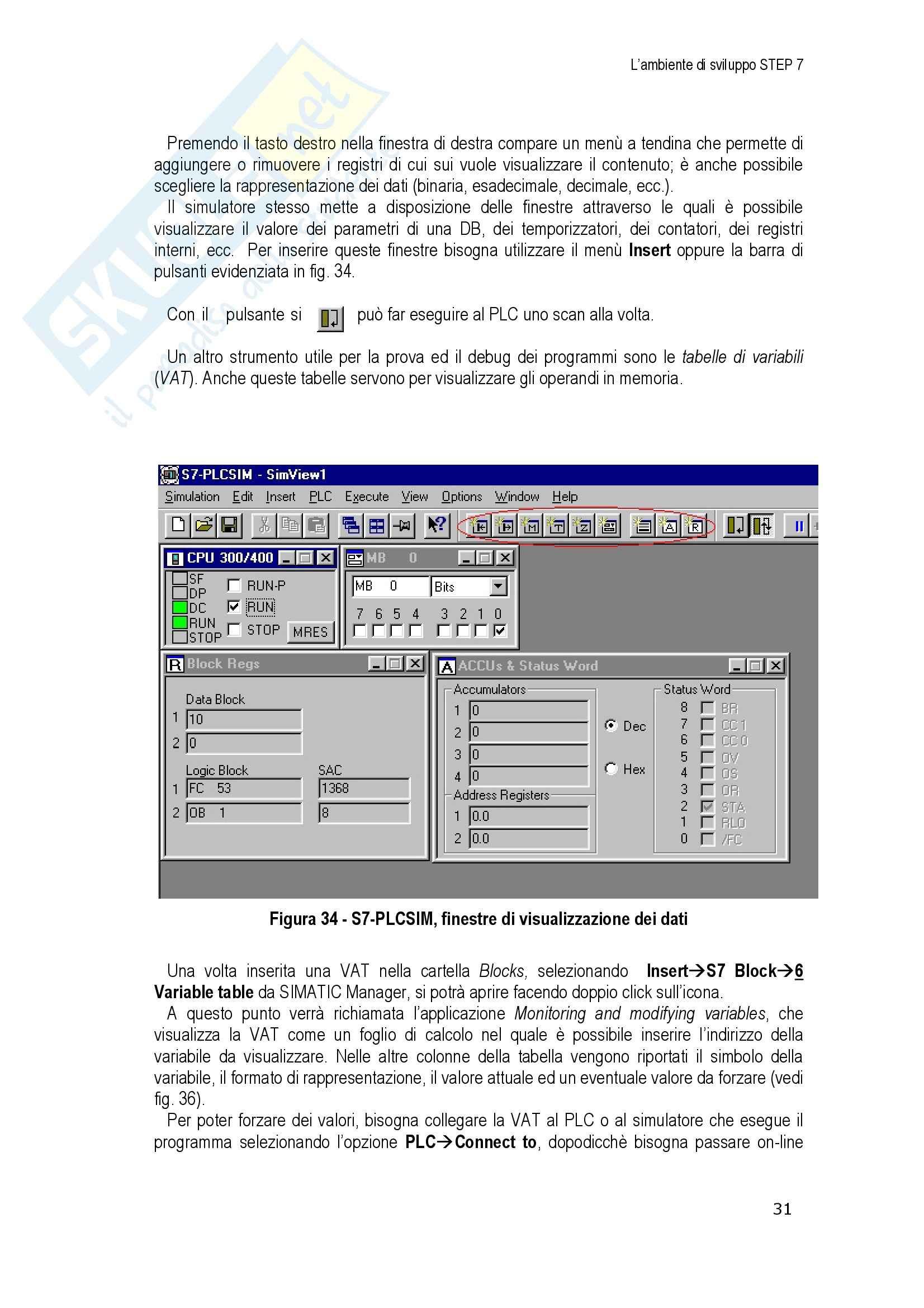 Tecnologie Sistemi Automazione e Controllo Pag. 31