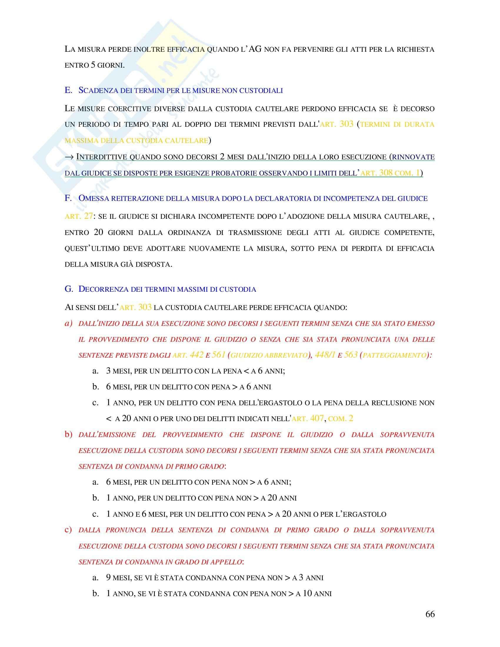 Diritto penale - misure precautelari Pag. 11