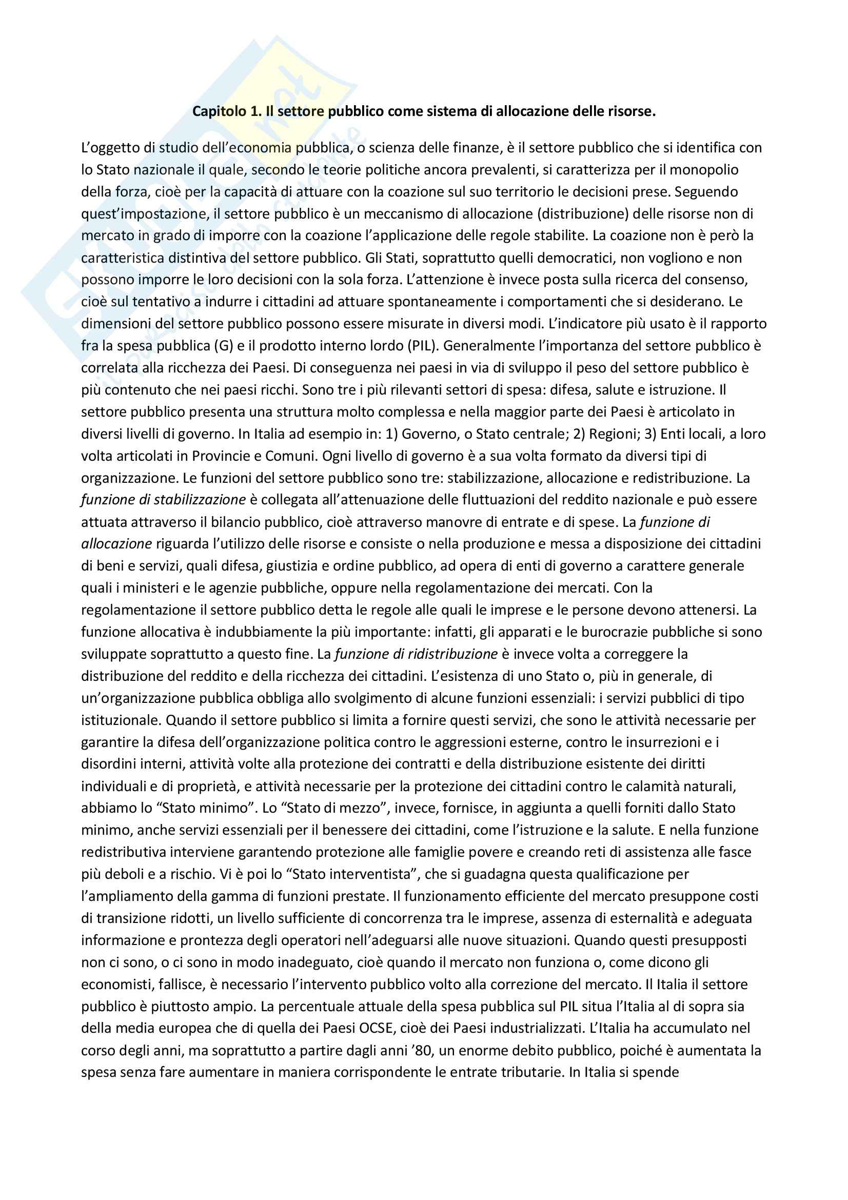appunto M. Trimarchi Economia pubblica