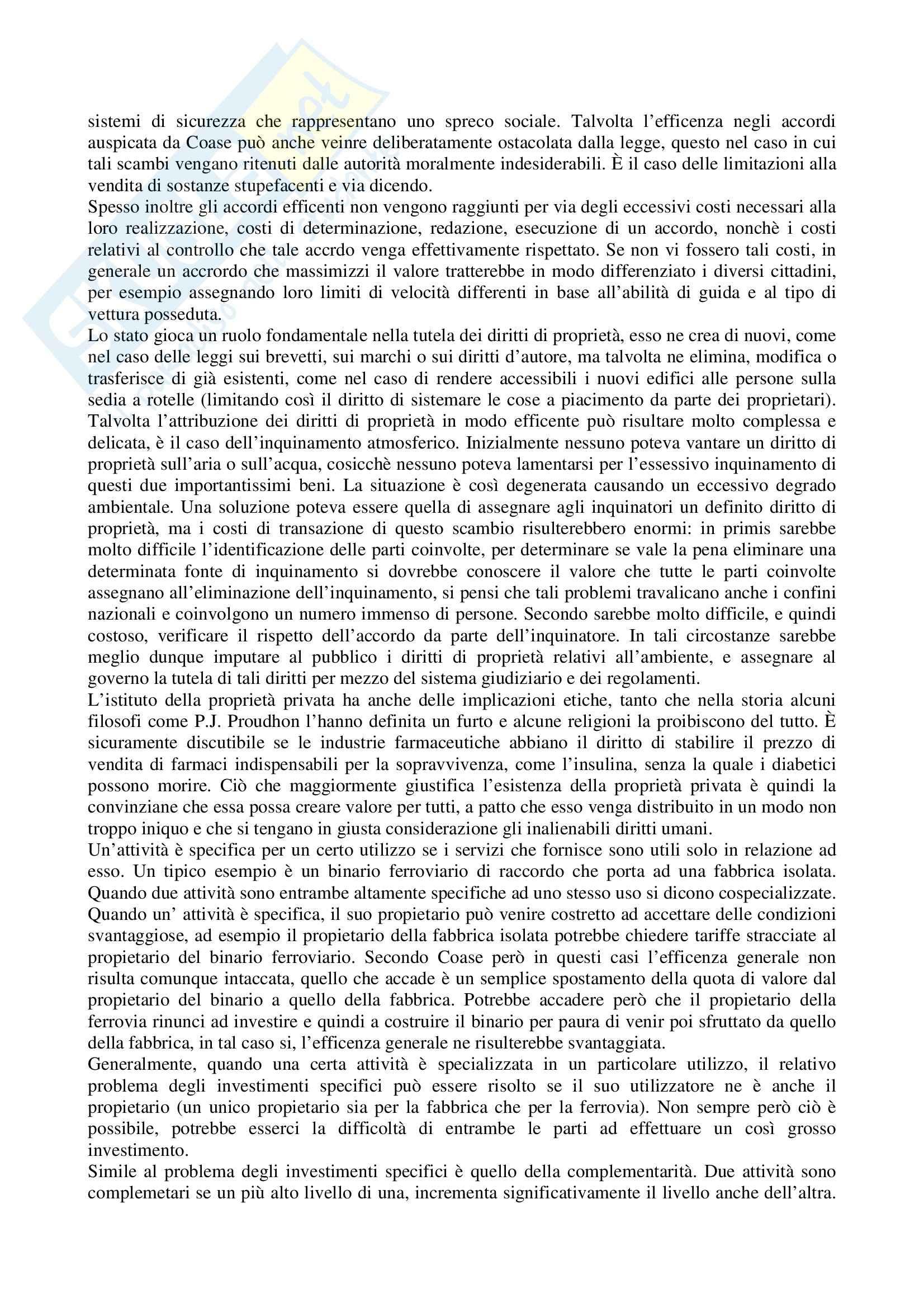Riassunto esame Organizzazione aziendale, prof. Modica, libro consigliato Economia, organizzazione e management, Milgrom Pag. 46
