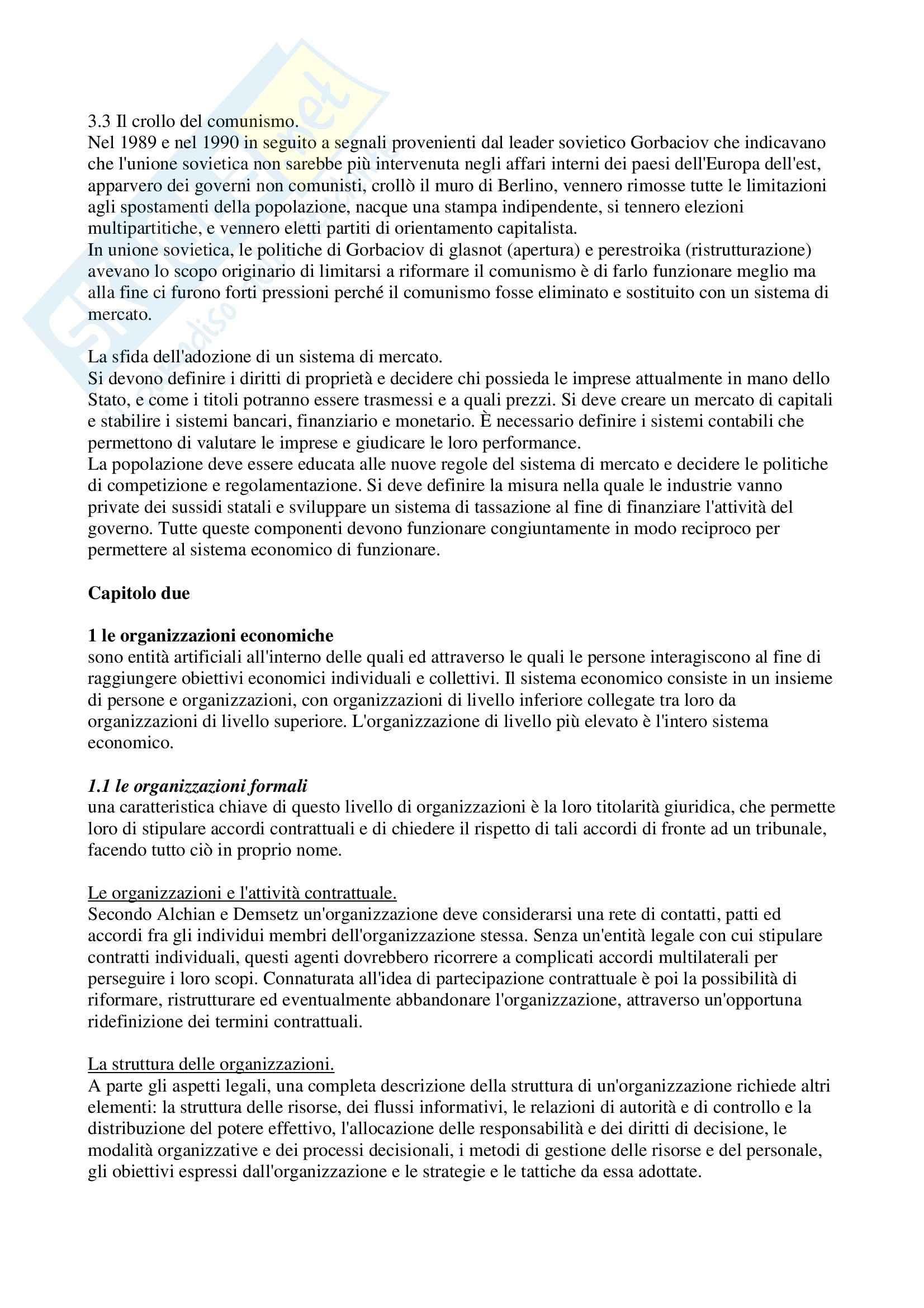 Riassunto esame Organizzazione aziendale, prof. Modica, libro consigliato Economia, organizzazione e management, Milgrom Pag. 6