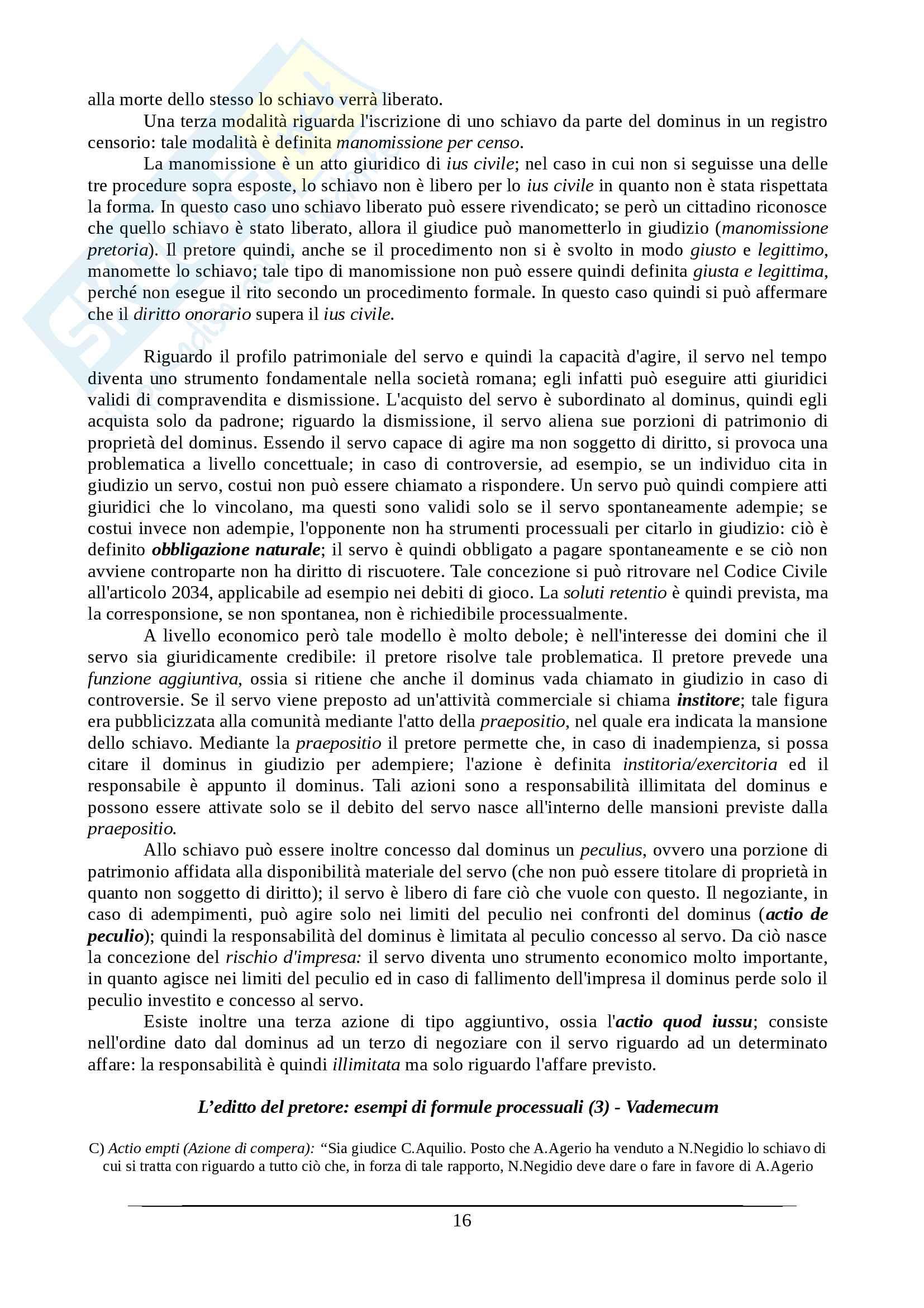 Istituzioni di diritto romano - Appunti Prof. Santucci Pag. 16