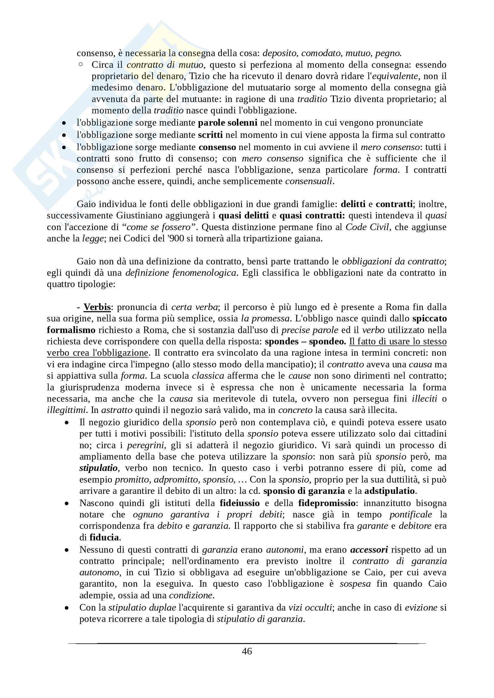 Istituzioni di diritto romano - Appunti Prof. Santucci Pag. 46