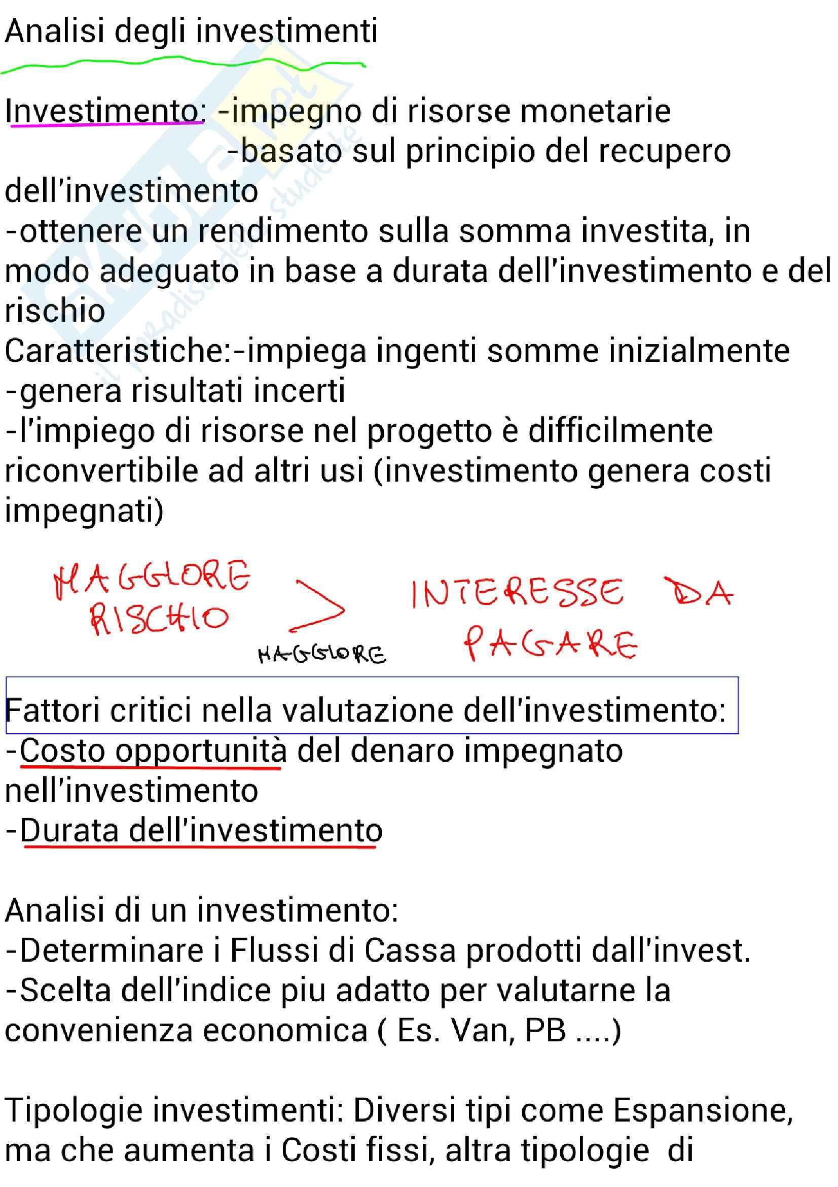 appunto P. Neirotti Economia e organizzazione aziendale