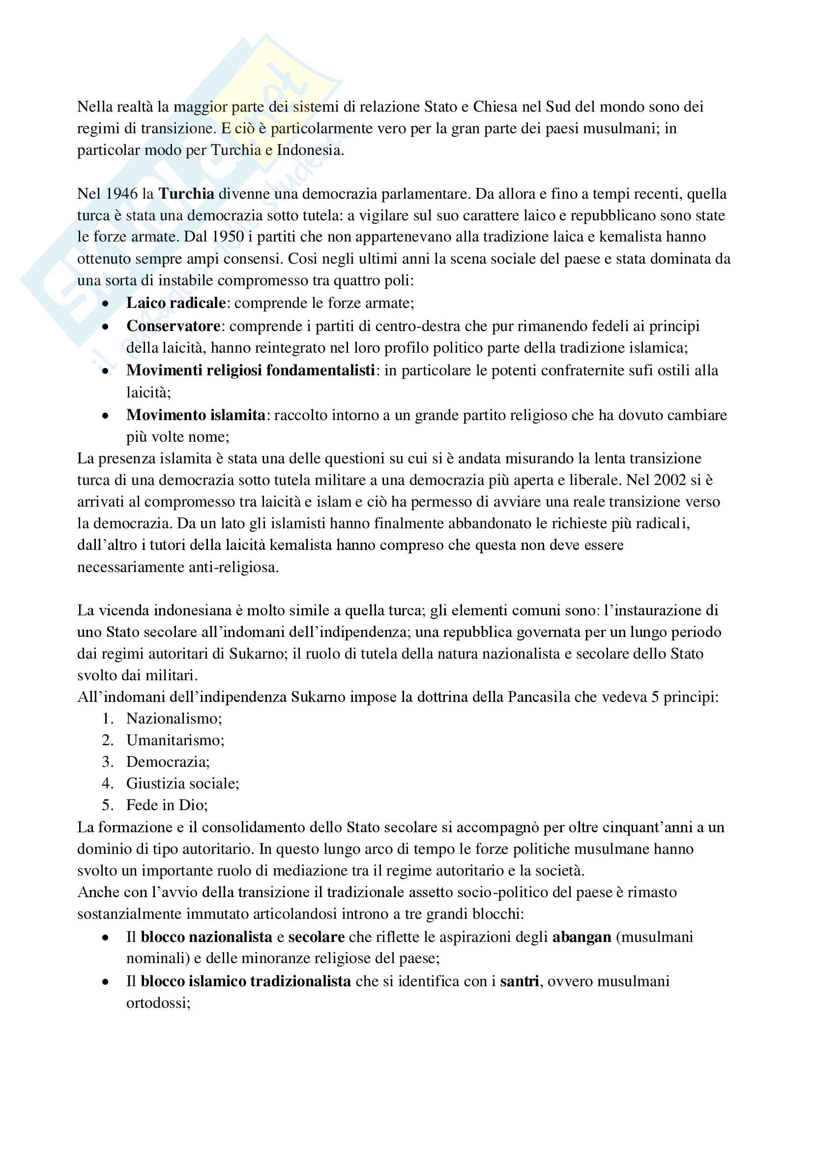 Riassunto esame sociologia della politica, prof. Gritti, libro consigliato La politica del sacro Pag. 6